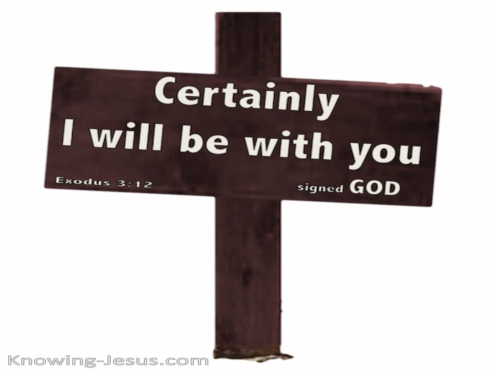 Exodus 3:12 Certainly I Will Be With You (white)