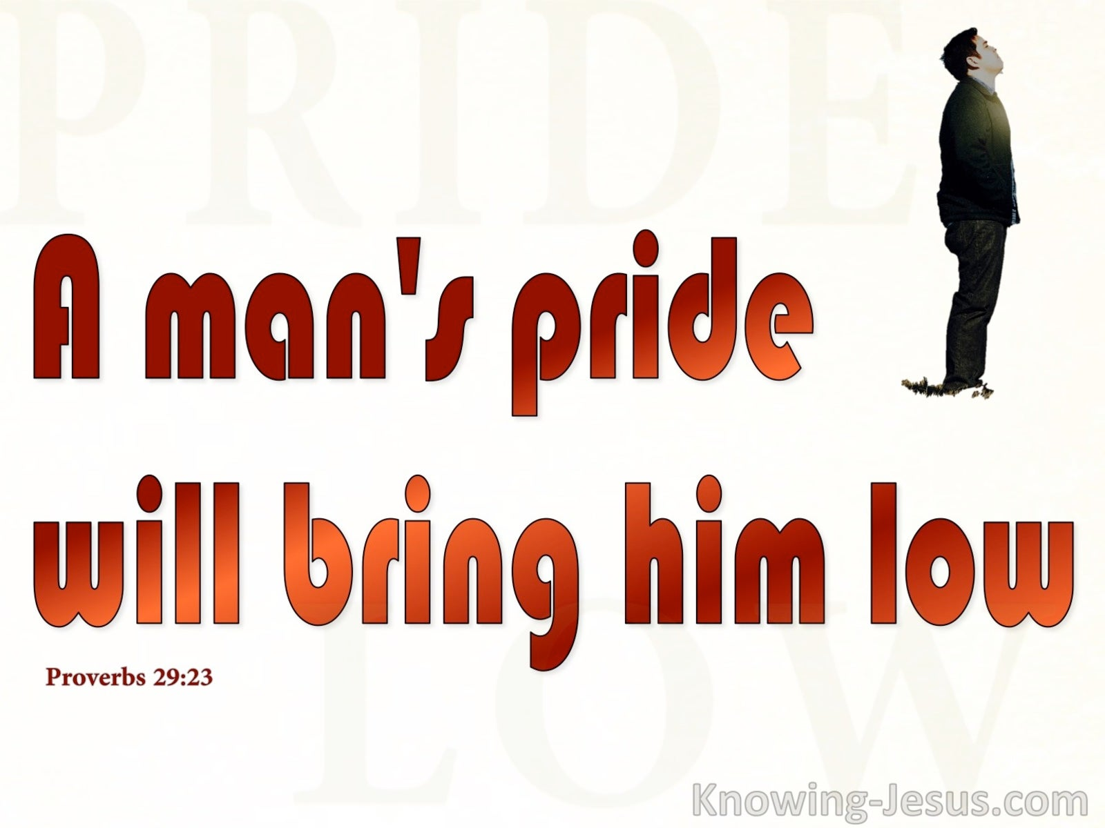 Proverbs 29:23 Humble Spirit Obtains Honour (red)