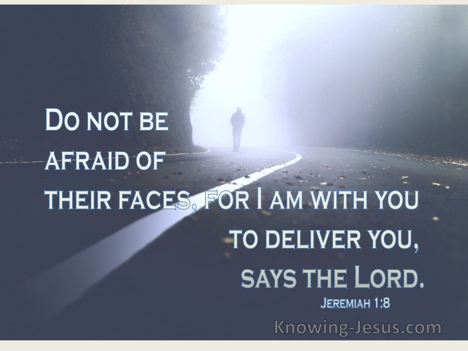 Jeremiah 1:8 Do Not Be Afraid Of Their Faces (blue)