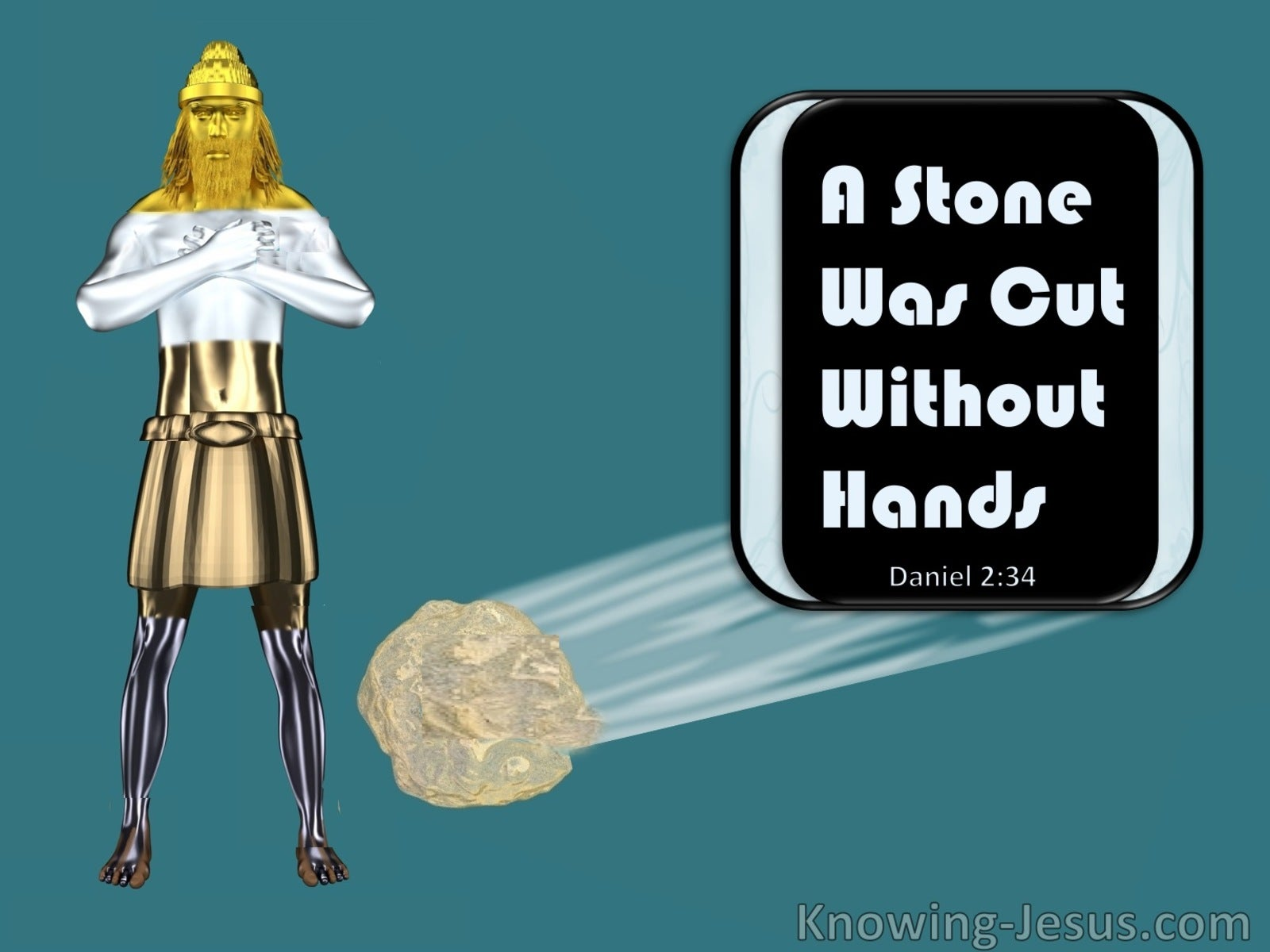 Daniel 2:34 You Watched While A Stone Was Cut Out Without Hands (black)