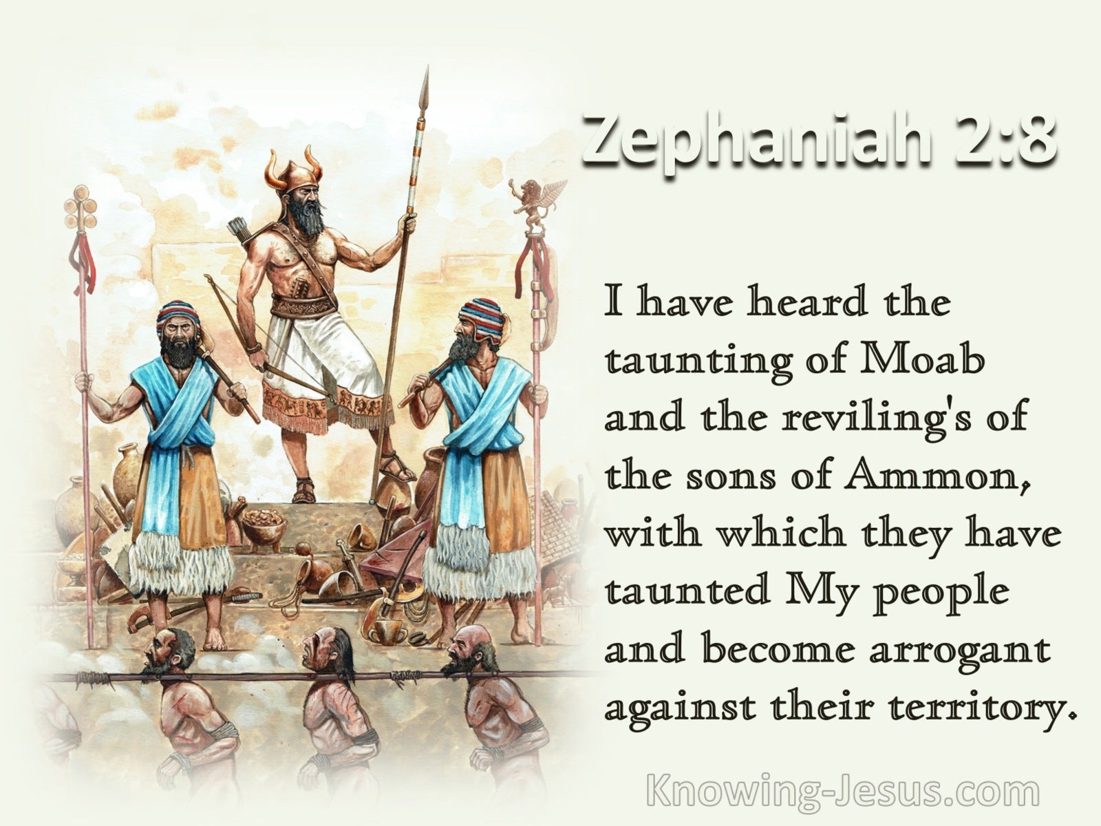 Zephaniah 2:8 The Taunting Of Moab And The Revilings Of The Sons Of Ammon (cream)