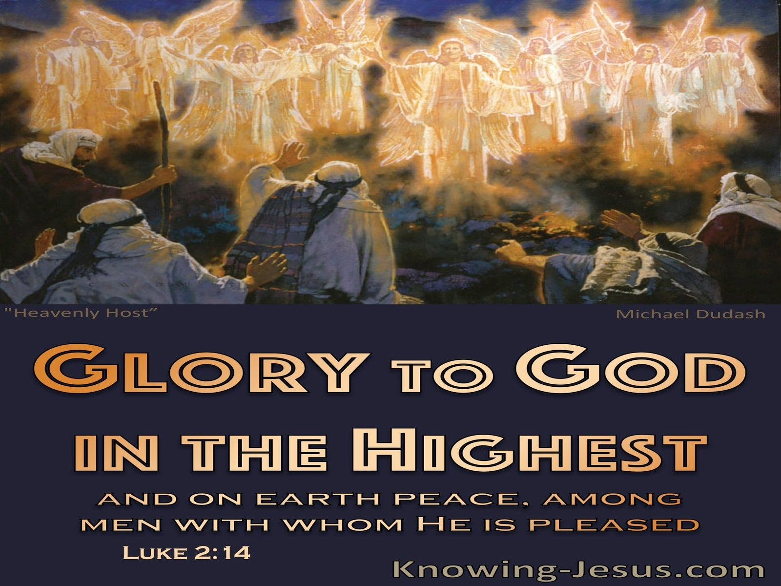 Luke 2:14 Glory To God In The Highest And Peace On Earth (yellow)
