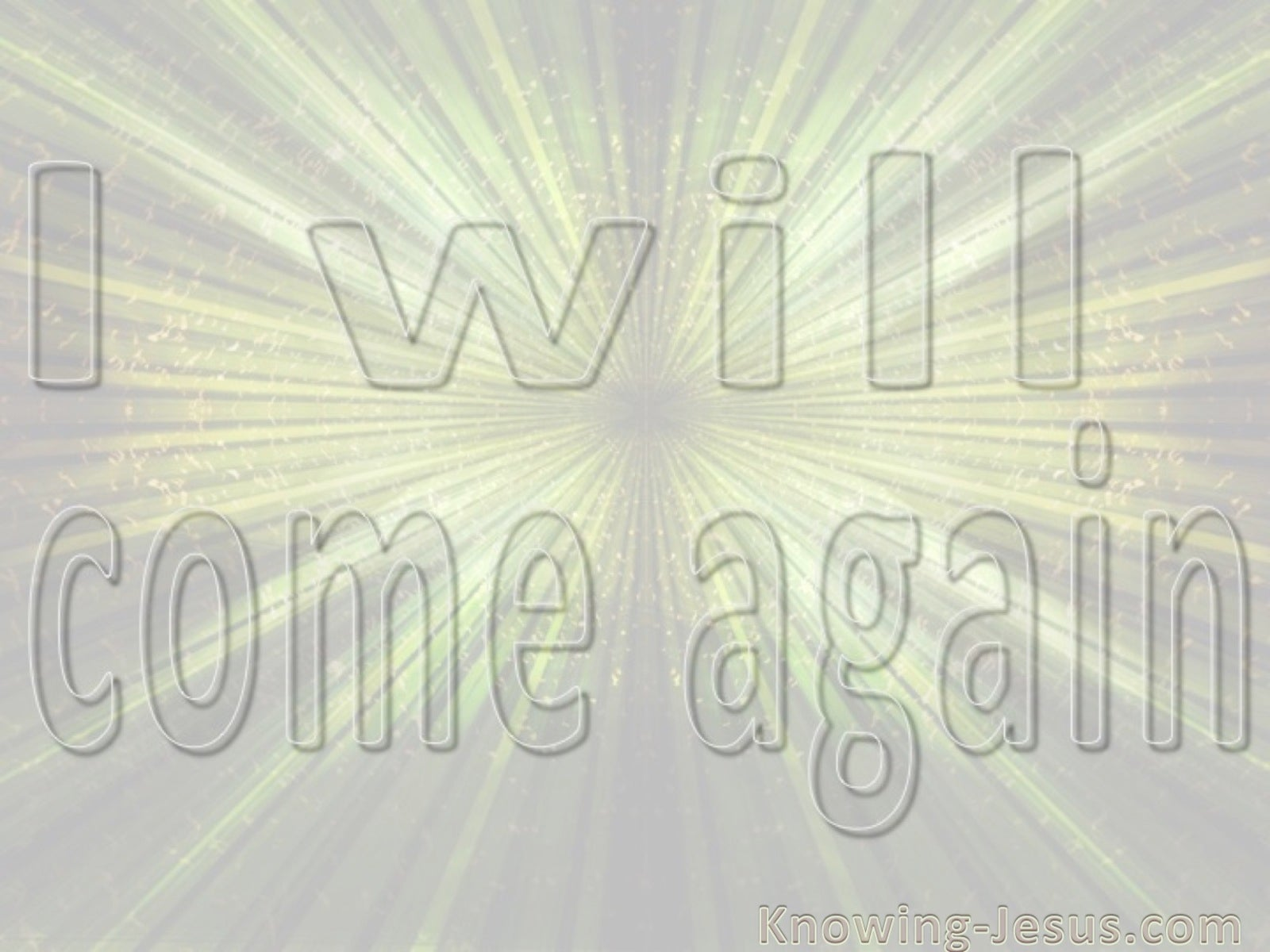 John 14:3 I Will Come Again (beige)