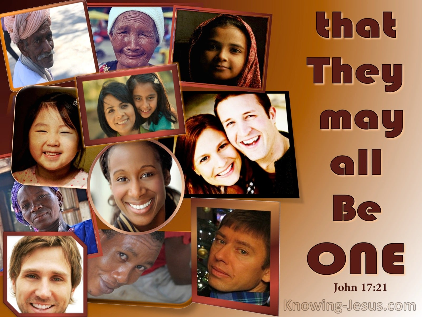John 17:21 That They May Be One (brown)