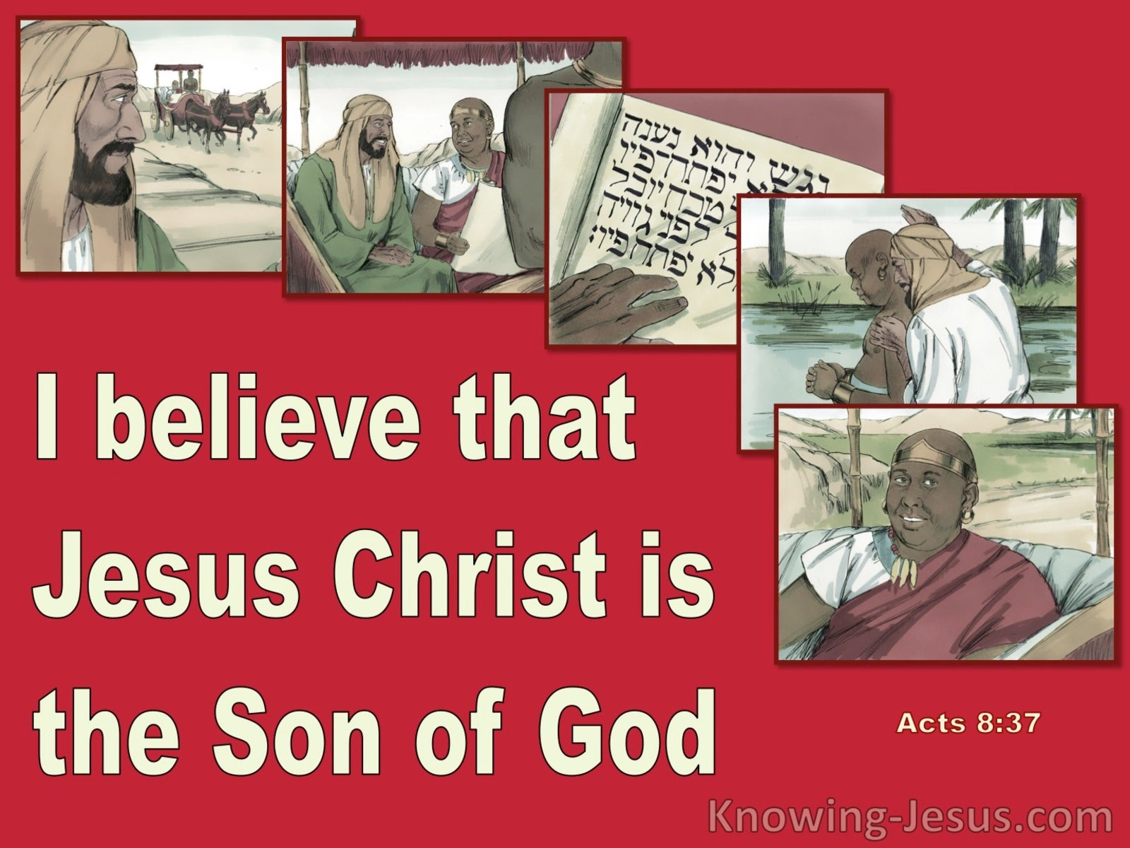 Acts 8:37 Jesus Christ Is The Son Of God (red)