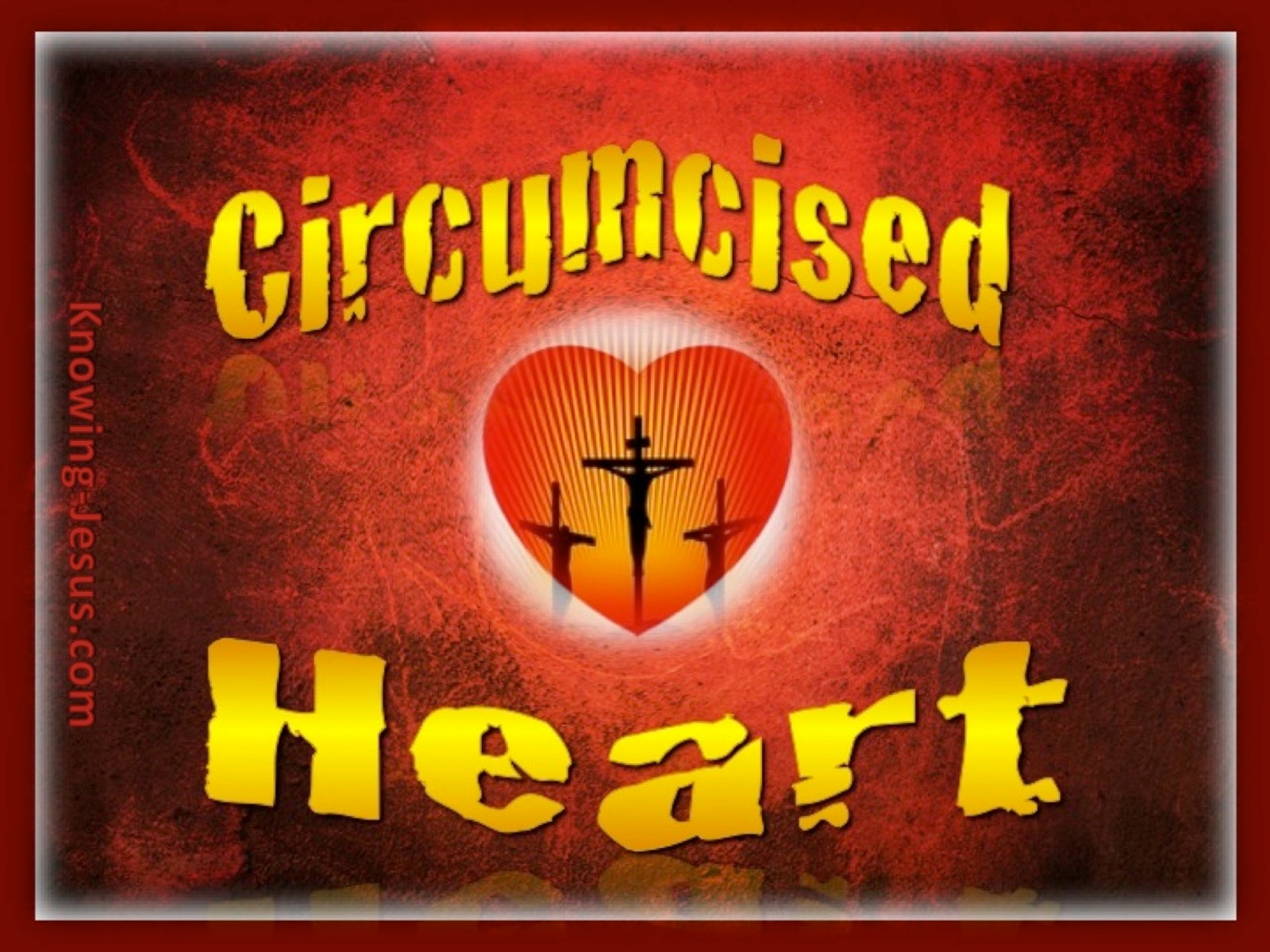 Colossians 2:11 Circumcised Heart (gold)