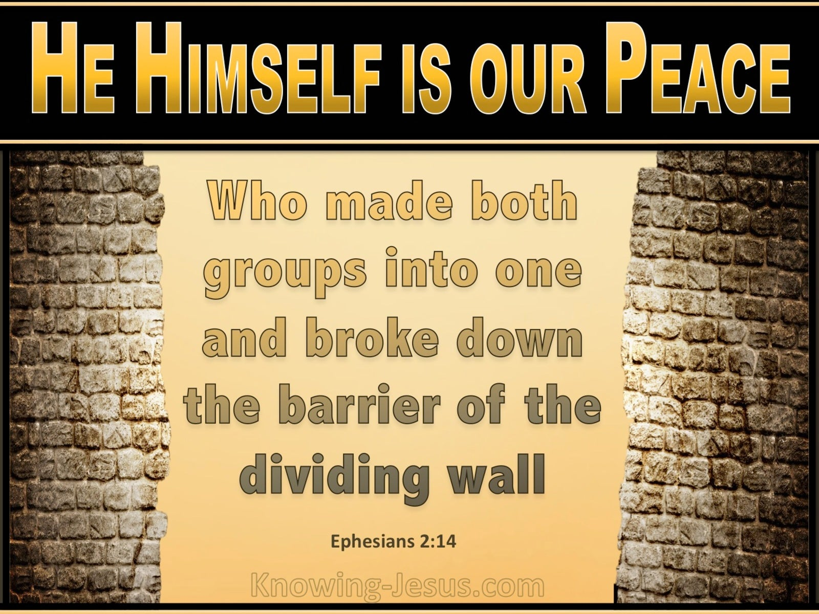 Ephesians 2:14 He Himself Is Our Peace (yellow)