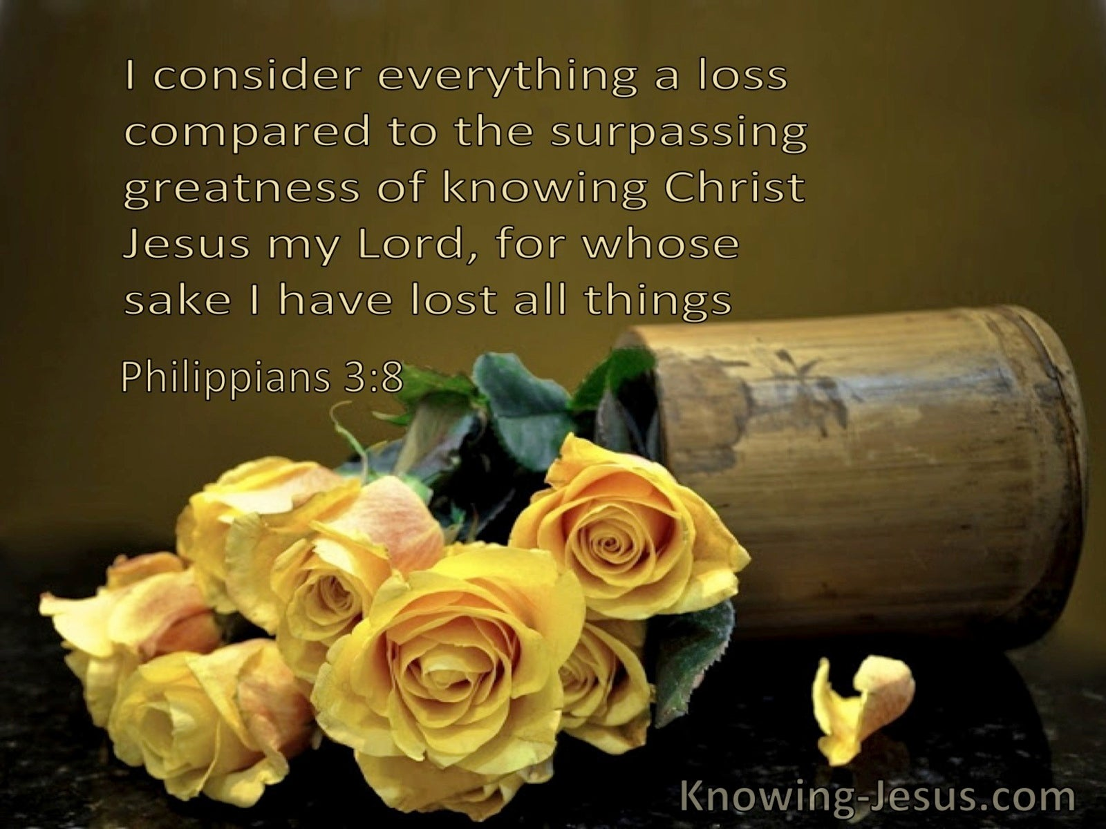 Philippians 3:8 Everything Is Loss Compared To The Surpassing Greatness Of Knowing Christ (windows)08:09