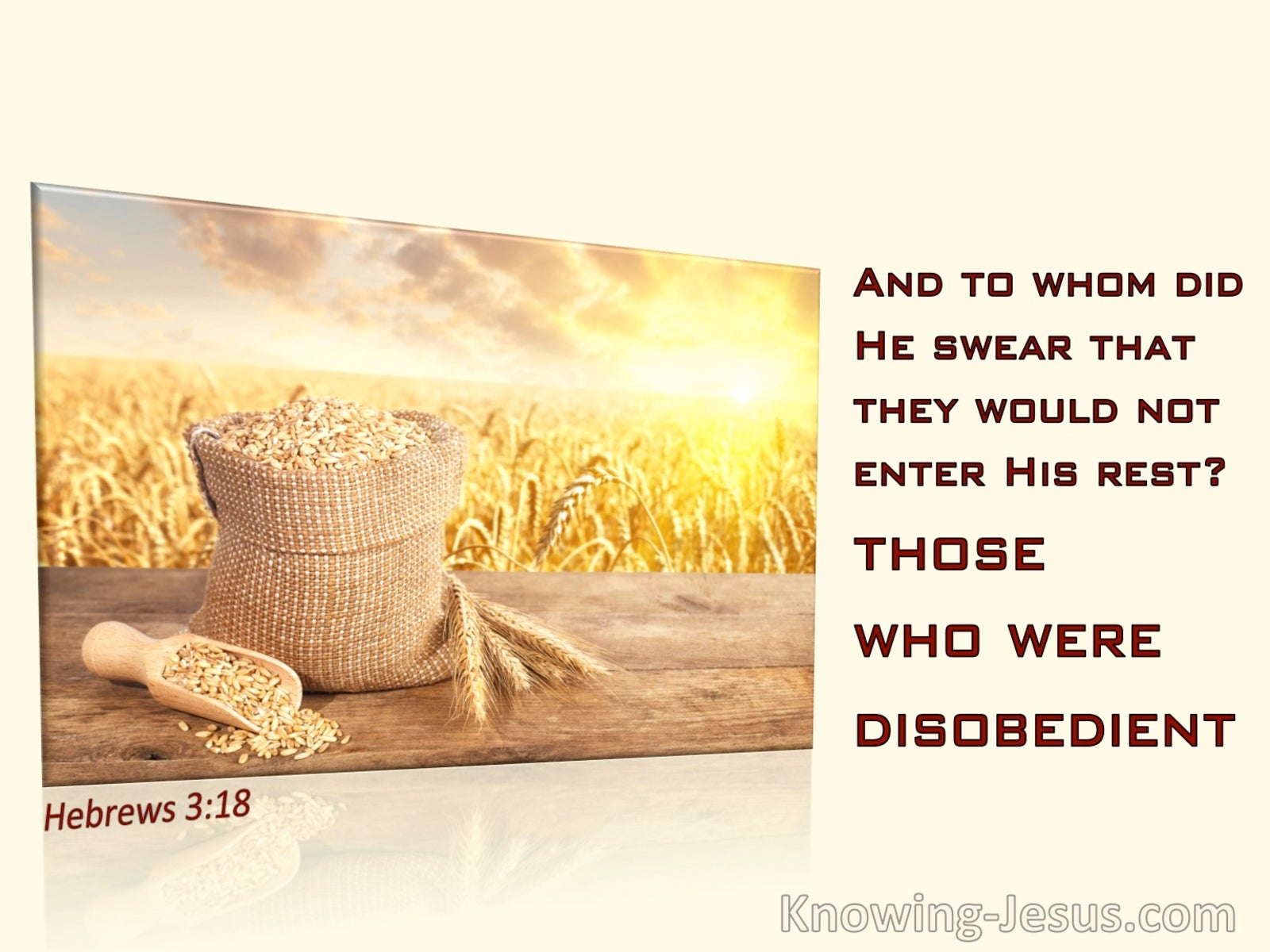 Hebrews 3:18 To Whom Did He Swear That They Would Not Enter His Rest (yellow)