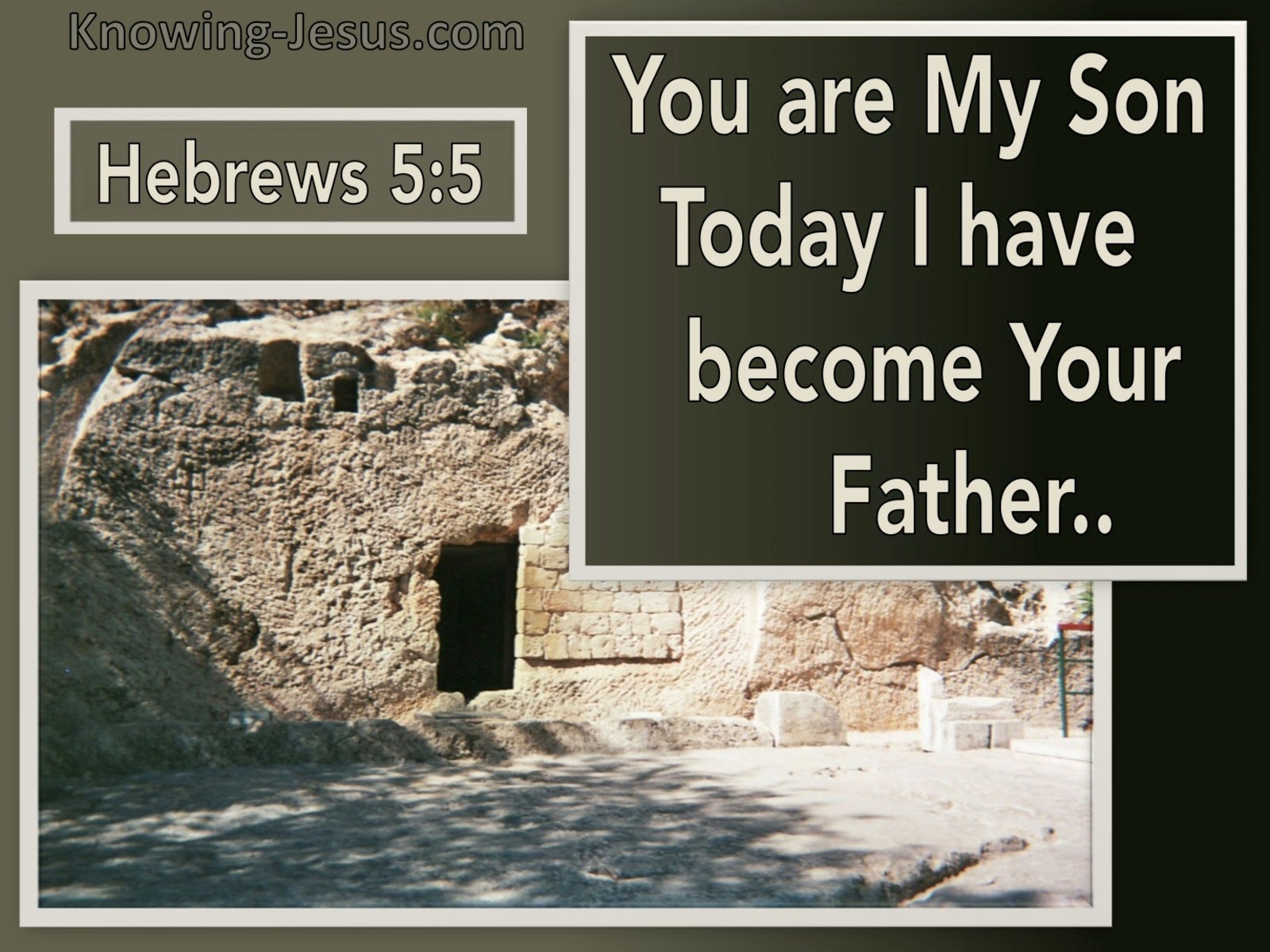 Hebrews 5:5 You Are My Son Today I Become Your Father (cream)