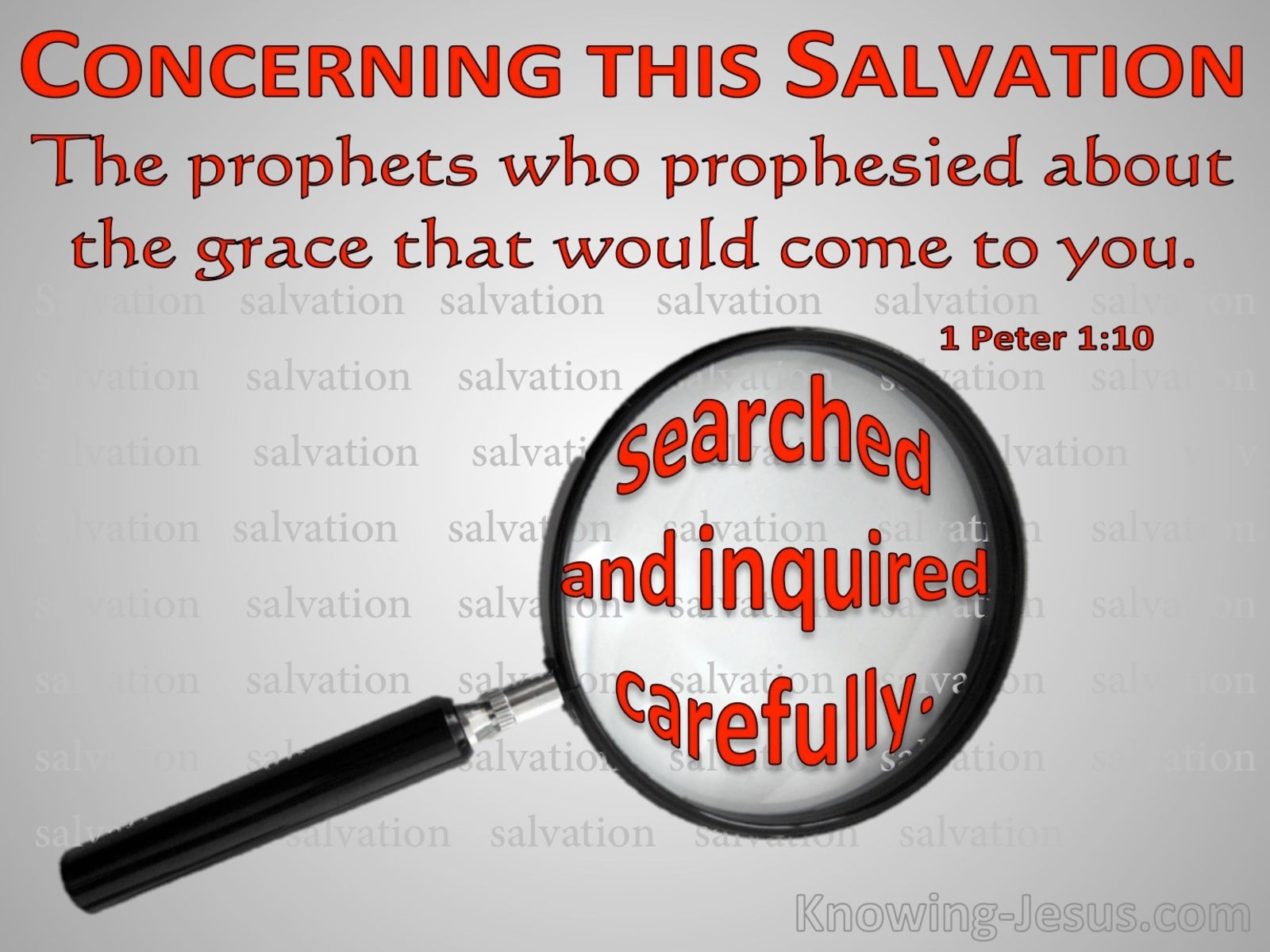 1 Peter 1:10 Concerning This Salvation (red)