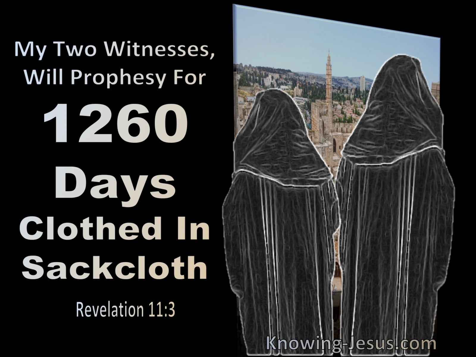 Revelation 11:3 My Two Witnesses Will Prophesy For 1260 Days Wearing Sackcloth (black)