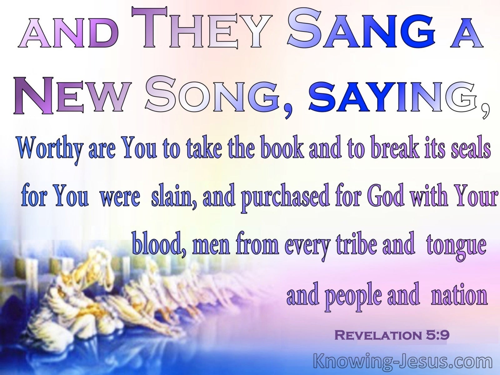 Revelation 5:9 They Sang A New Song (pink)