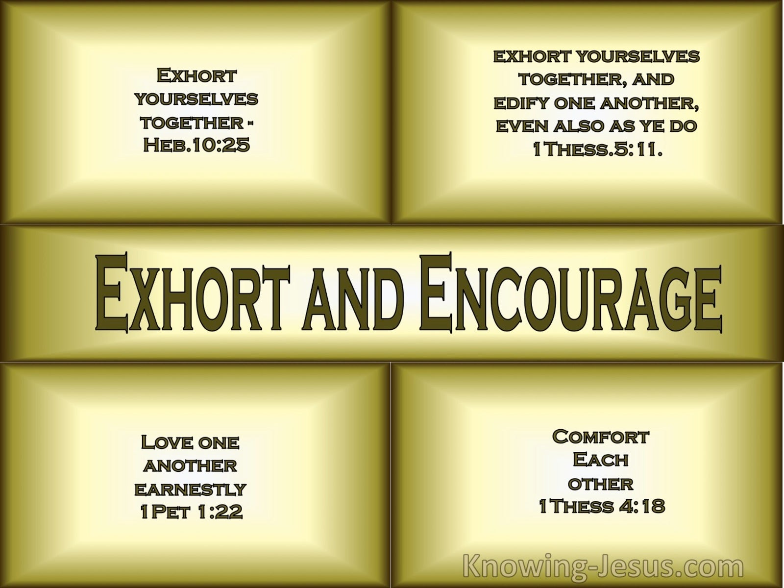1 Thessalonians 5:11 Exhort and Encourage (devotional)10-14 (brown)