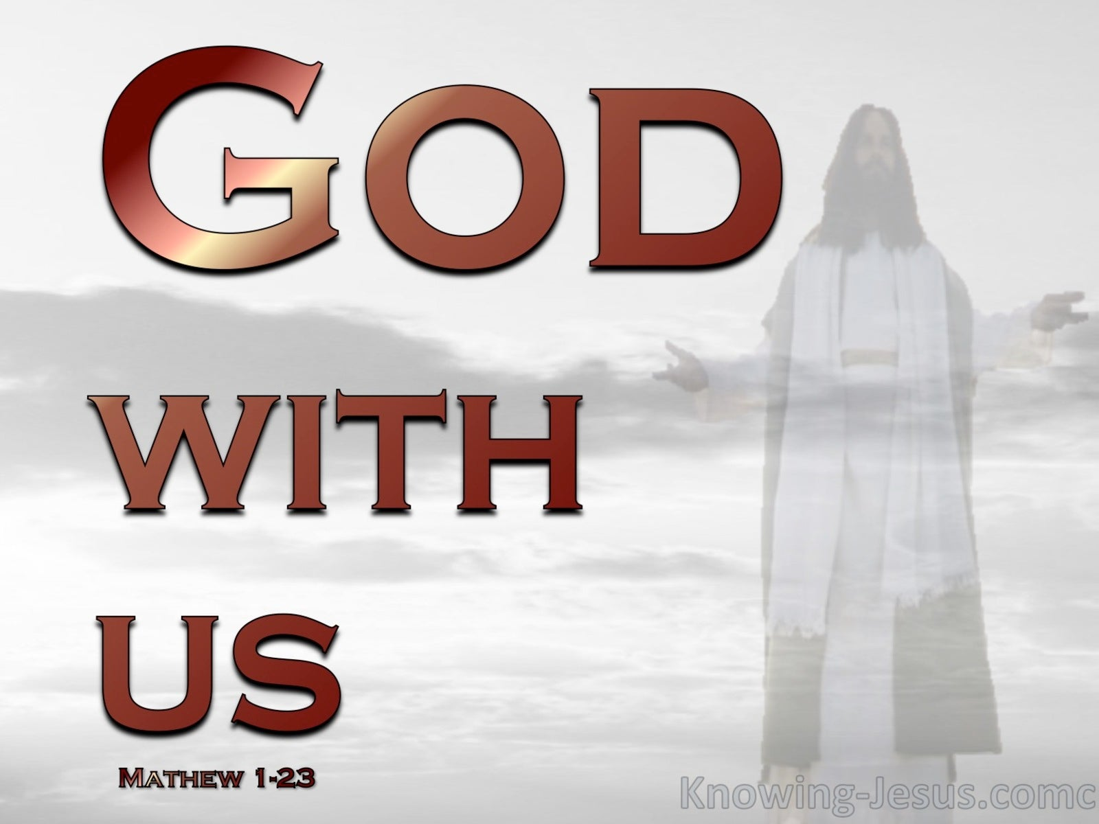 Matthew 1:23 God With Us (devotional)09:08 (red)