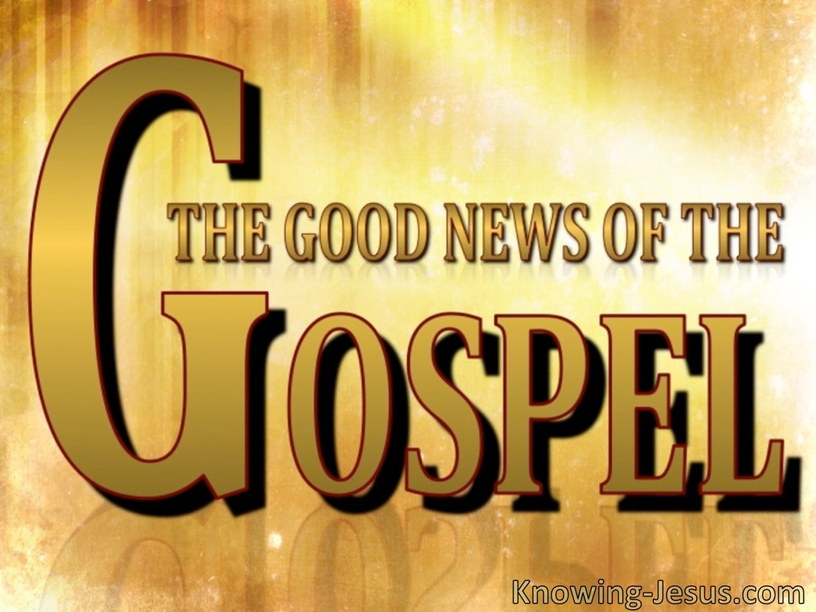 The Good News of the Gospel (devotional)  - 1 Thessalonians 4:14