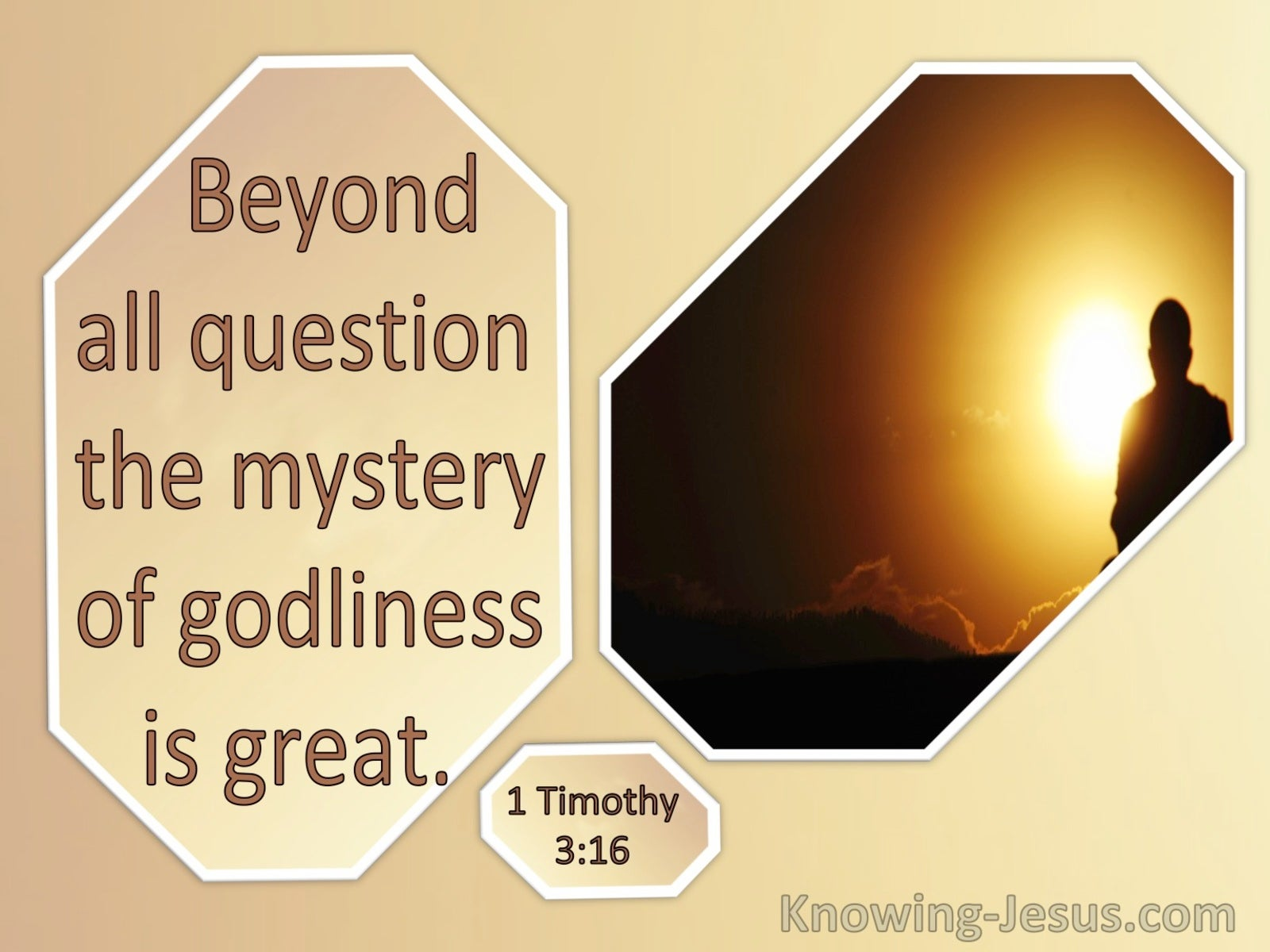 1 Timothy 3:16 The Mystery Of Godliness Is Great (windows)02:04