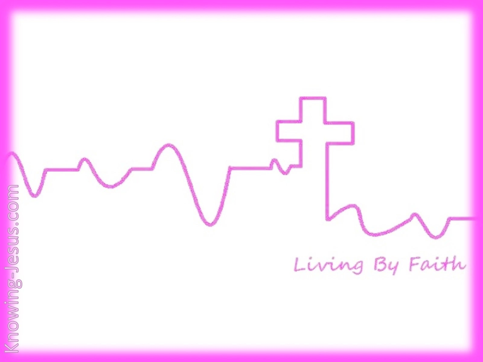 Living By Faith (devotional) (pink)