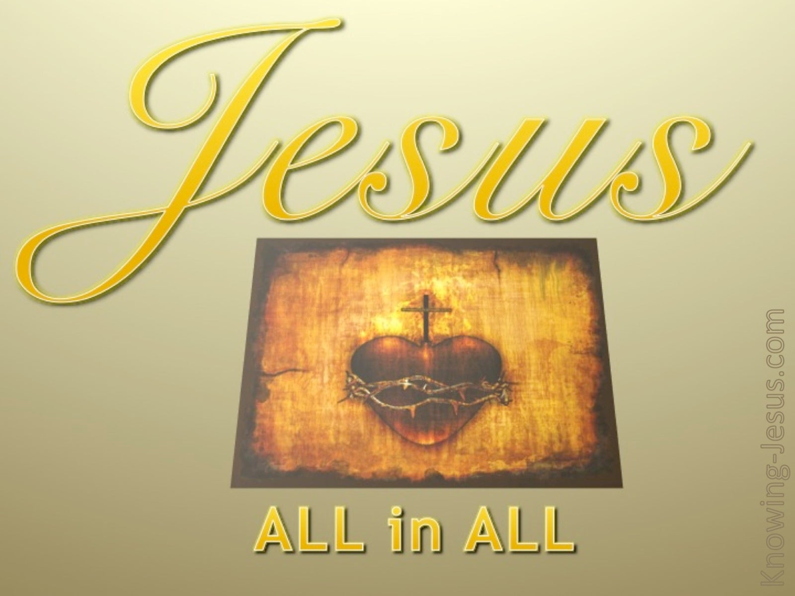 JESUS - All In All (yellow)