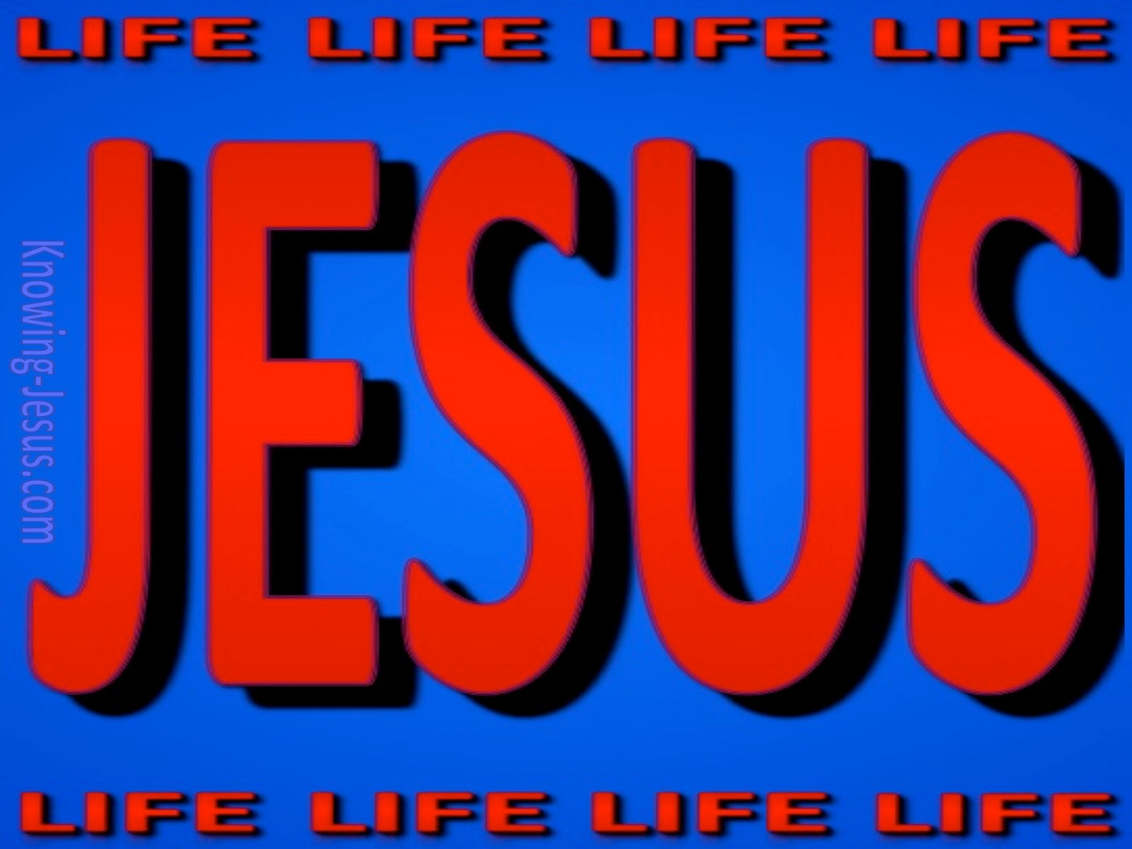 JESUS - Is Life (red)