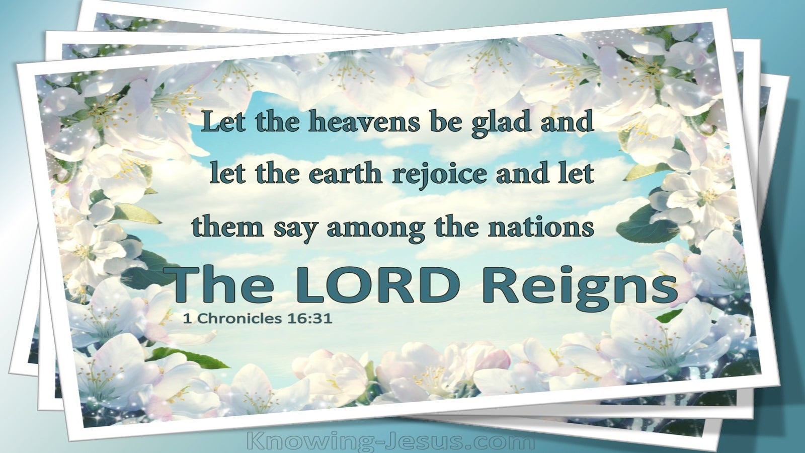 1 Chronicles 16:31 Let The Heavens Be Glad (blue)