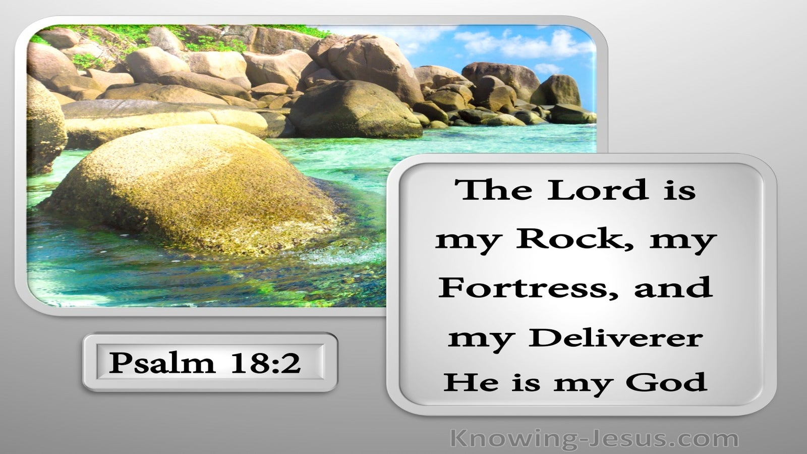 Psalm 18:2 The Lord Is My Rock (silver)