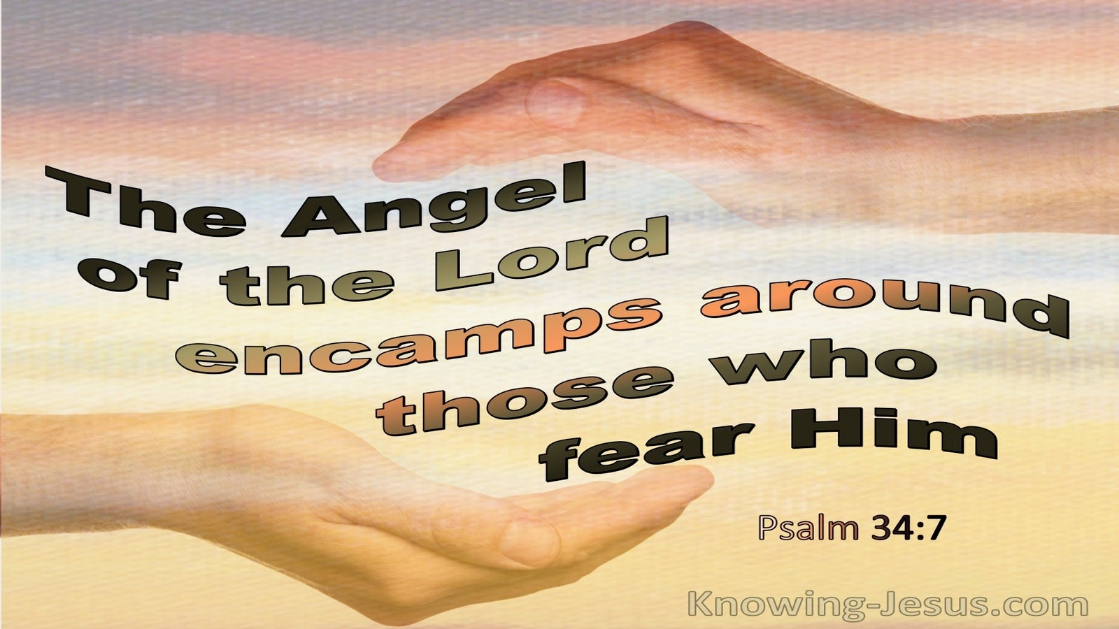 Psalm 34:7 The Angel Of The Lord (yellow)