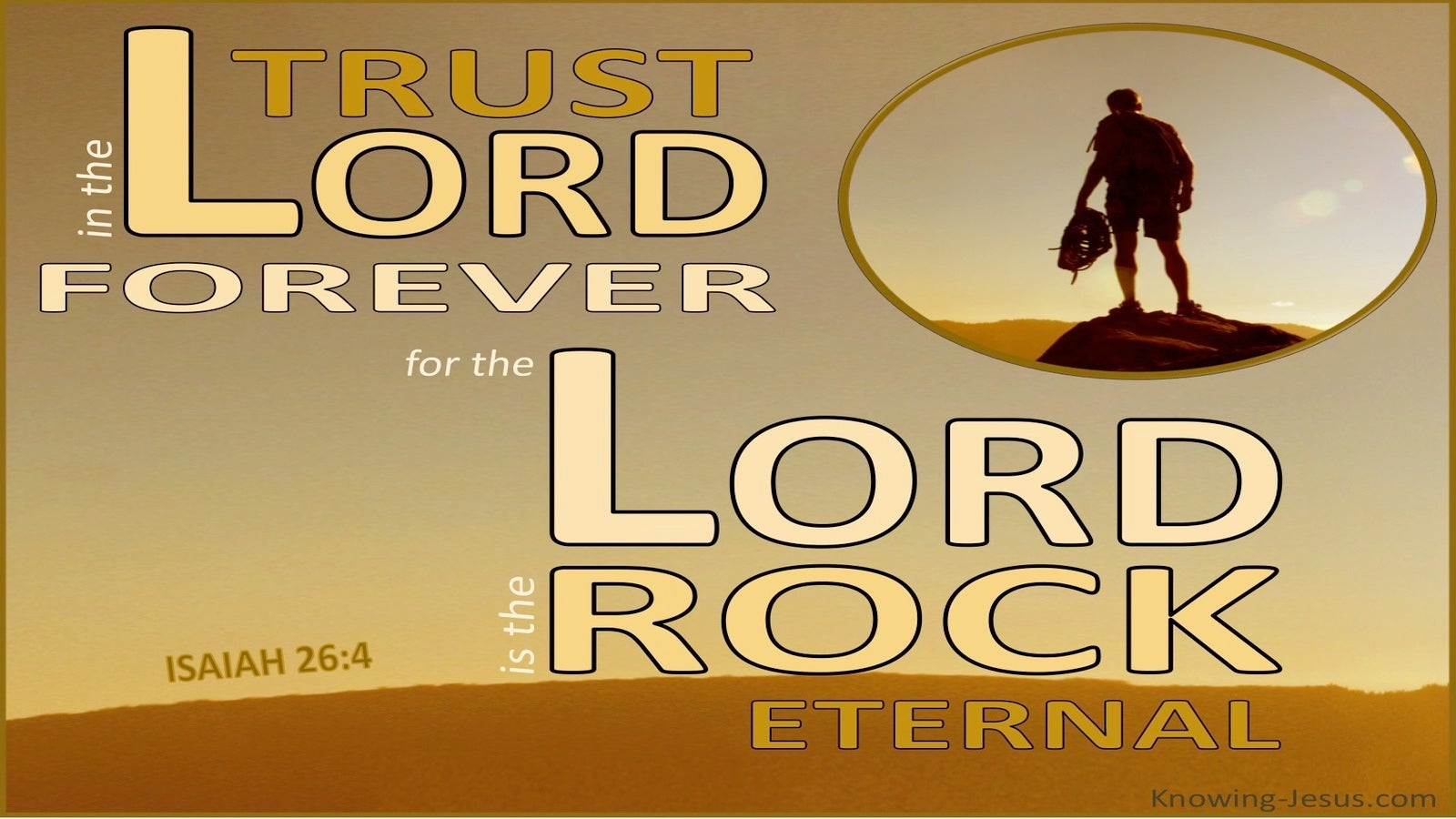 Isaiah 26:4 Trust in the Lord Forever (beige)