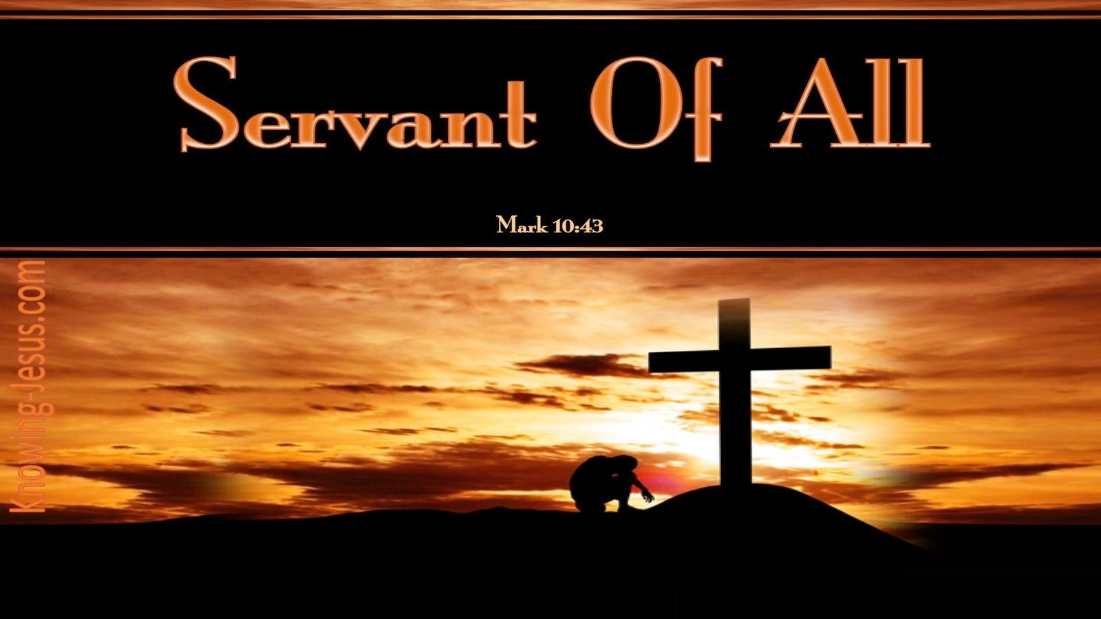Mark 10:43 Whoever Would Be Great Must Be Servant Of All (black)