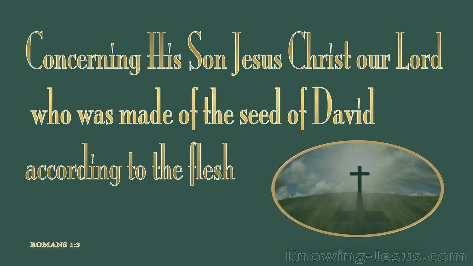 Romans 1:3 Made of the Seed of David (sage)