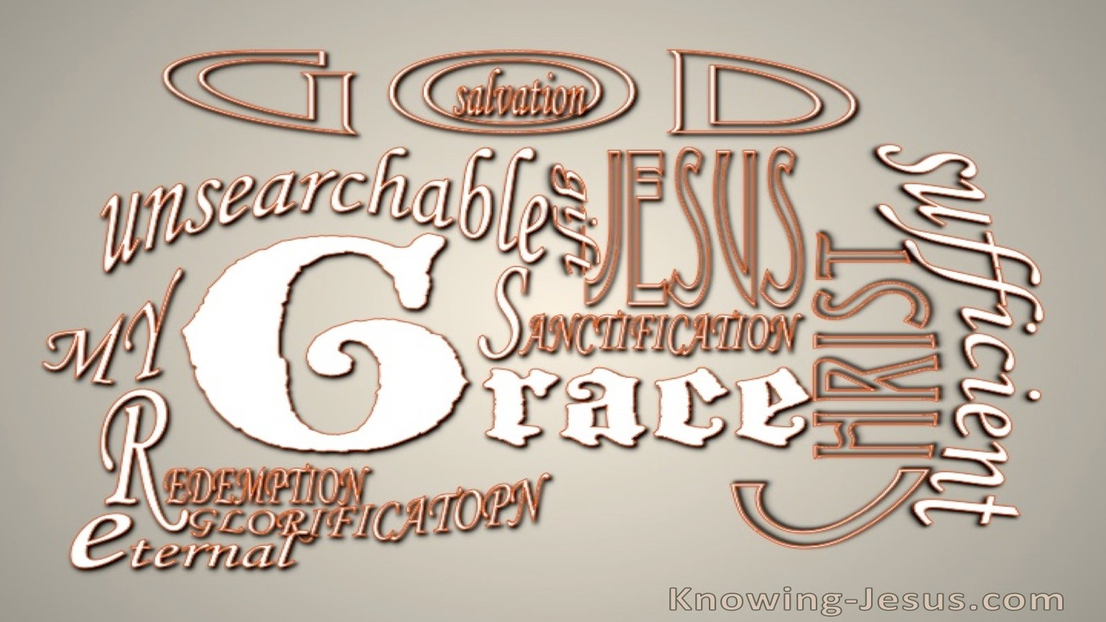 Romans 5:20 Much More Grace (brown)