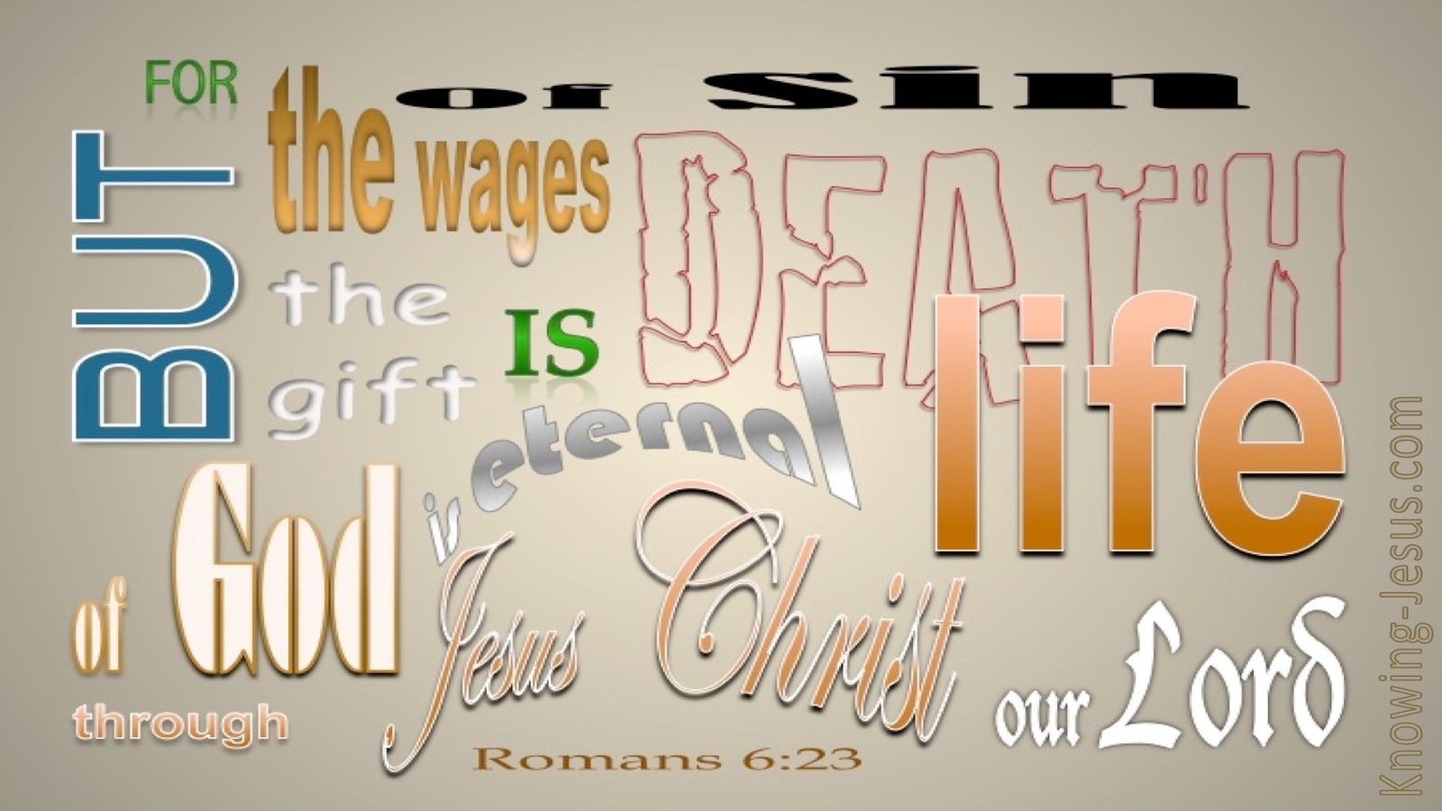Romans 6:23 The Wages Of Sin Is Death (beige)