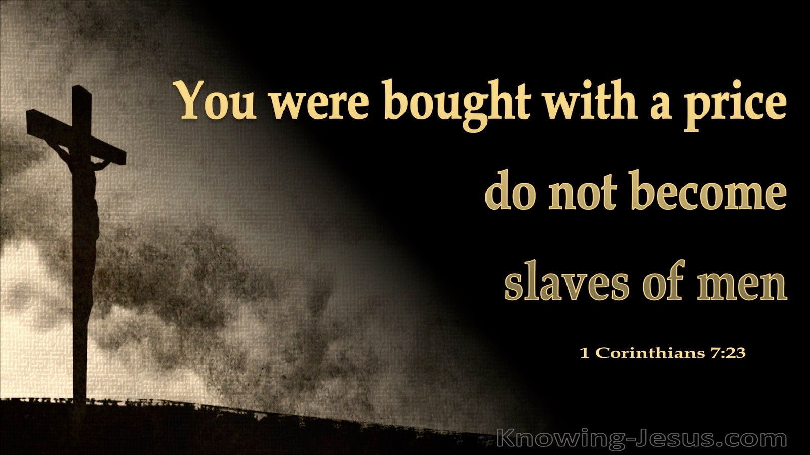 1 Corinthians 7:23 You Were Bought With A Price (gold)
