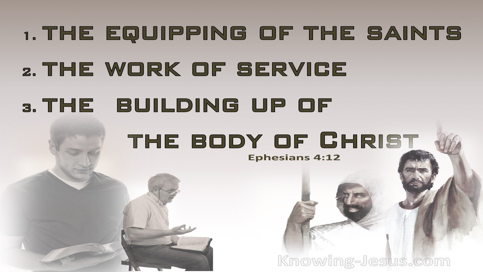 Ephesians 4:12 For The Equipping Of The Saints For The Work Of Service (brown)