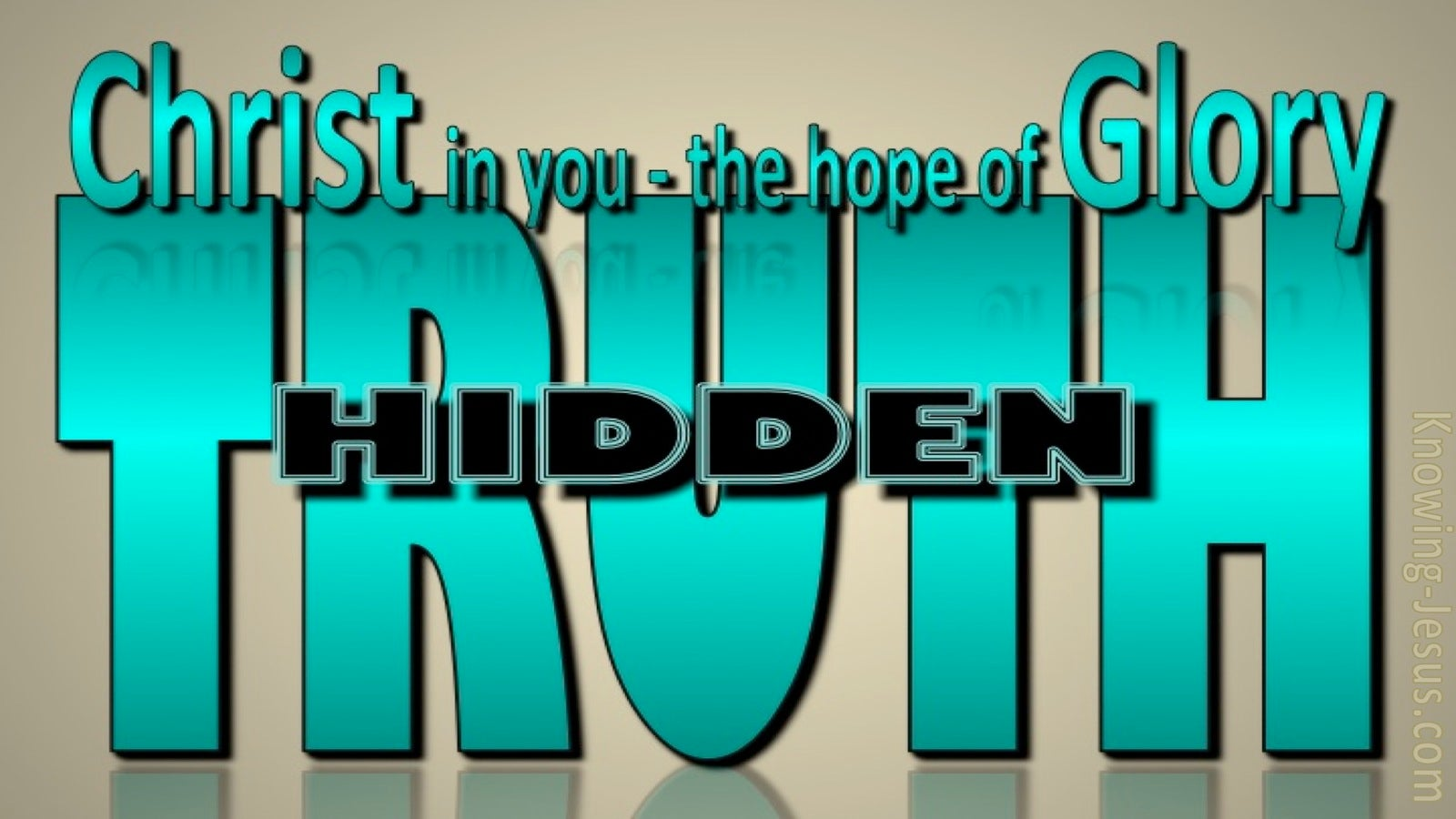 God's Hidden Truths (devotional) (sage) - Colossians 1:27