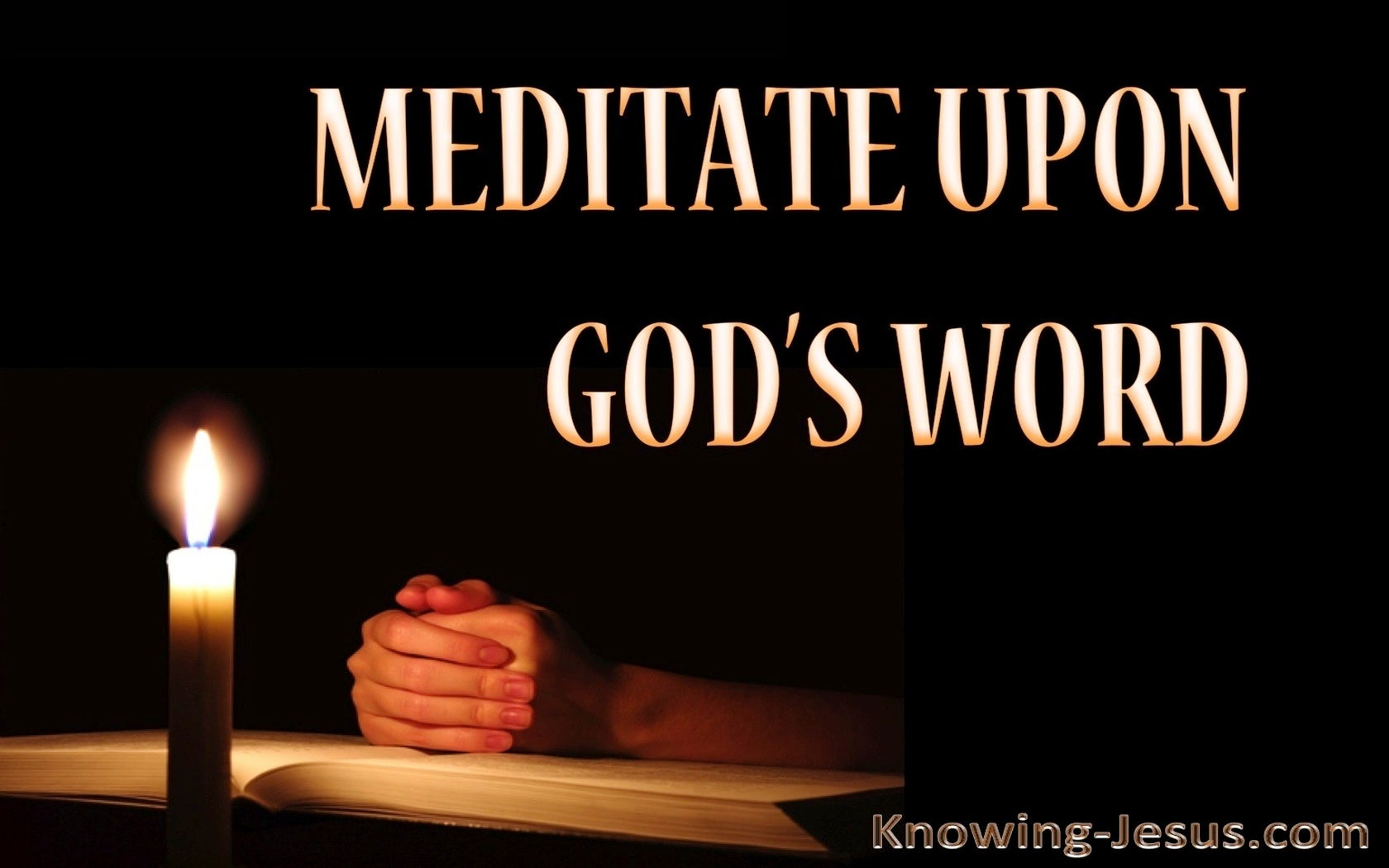 Joshua 1:8 Meditate On God's Word Day And Night (white)