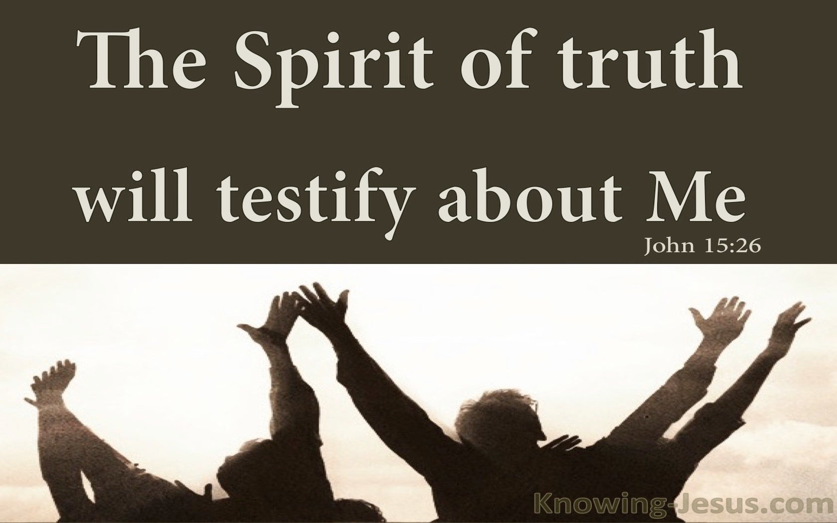 John 15:26 The Spirit Of Truth (brown)
