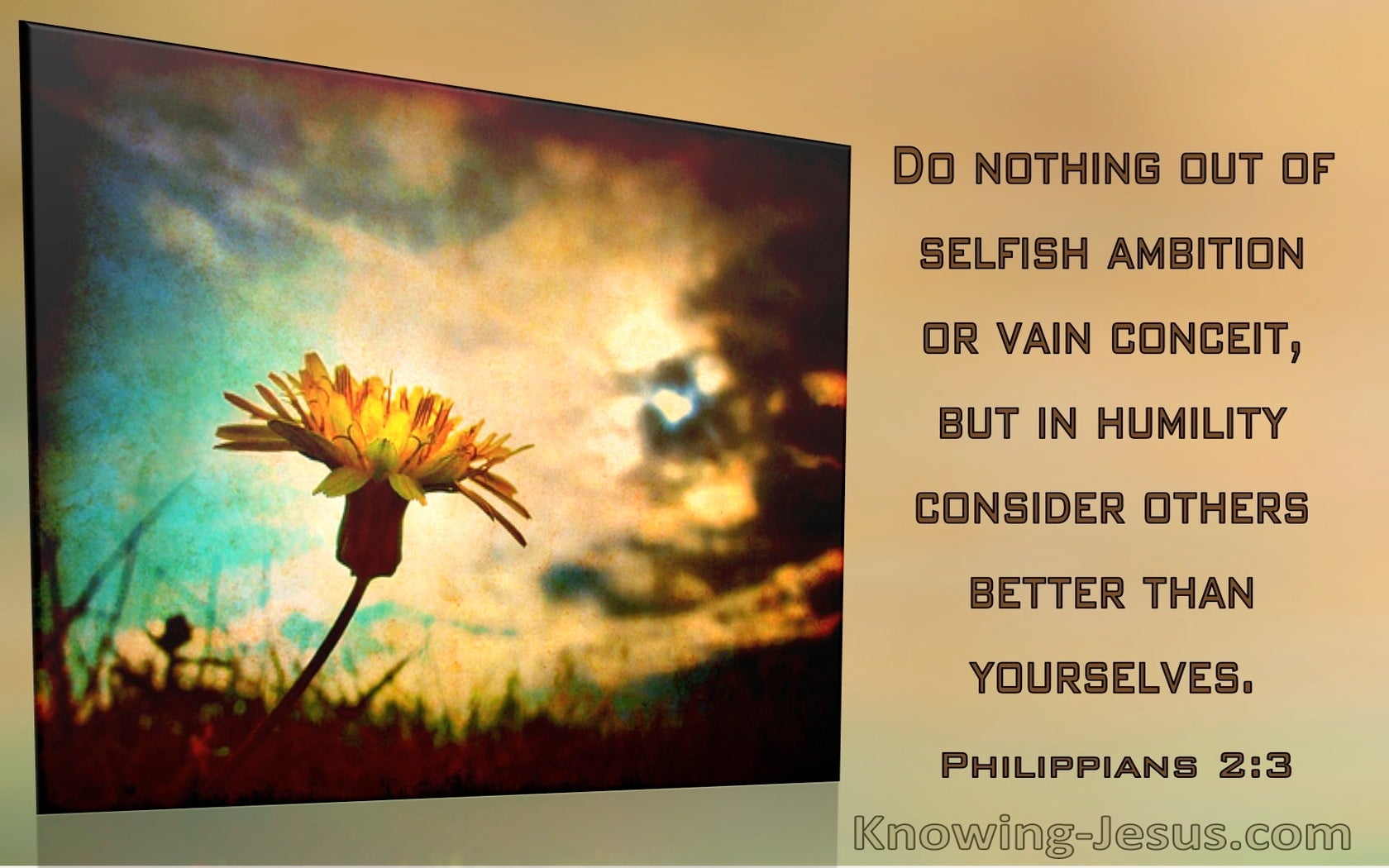Philippians 2:3 Do Nothing Out Of Selfish Ambition Or Vain Conceit (windows)09:07