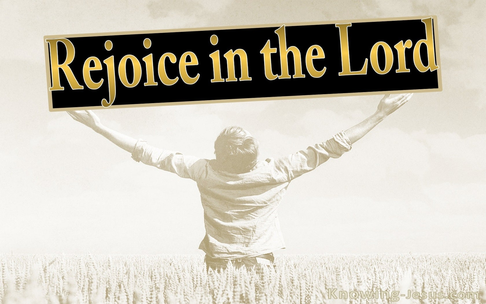 Philippians 3:1 Rejoice In The Lord (beige)