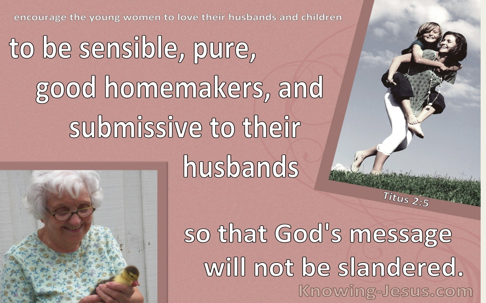 Titus 2:5 Be Sensible Pure Good Homemakers  And Submissive To Husbands (brown)