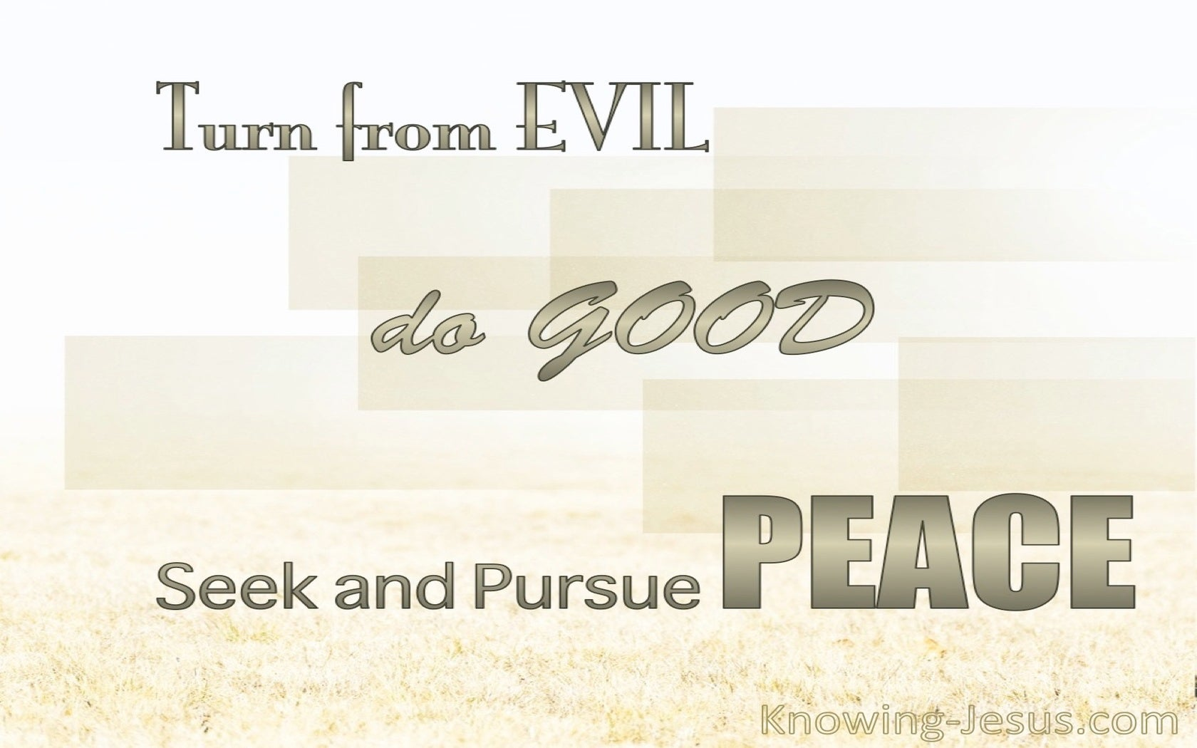 1 Peter 3:11 Turn From Evil And Do Good (beige)
