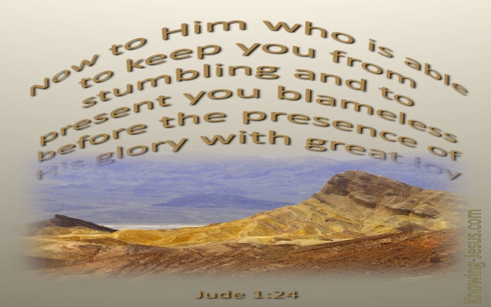 Jude 1:24 He Is Able To Keep You From Stumbling (beige)