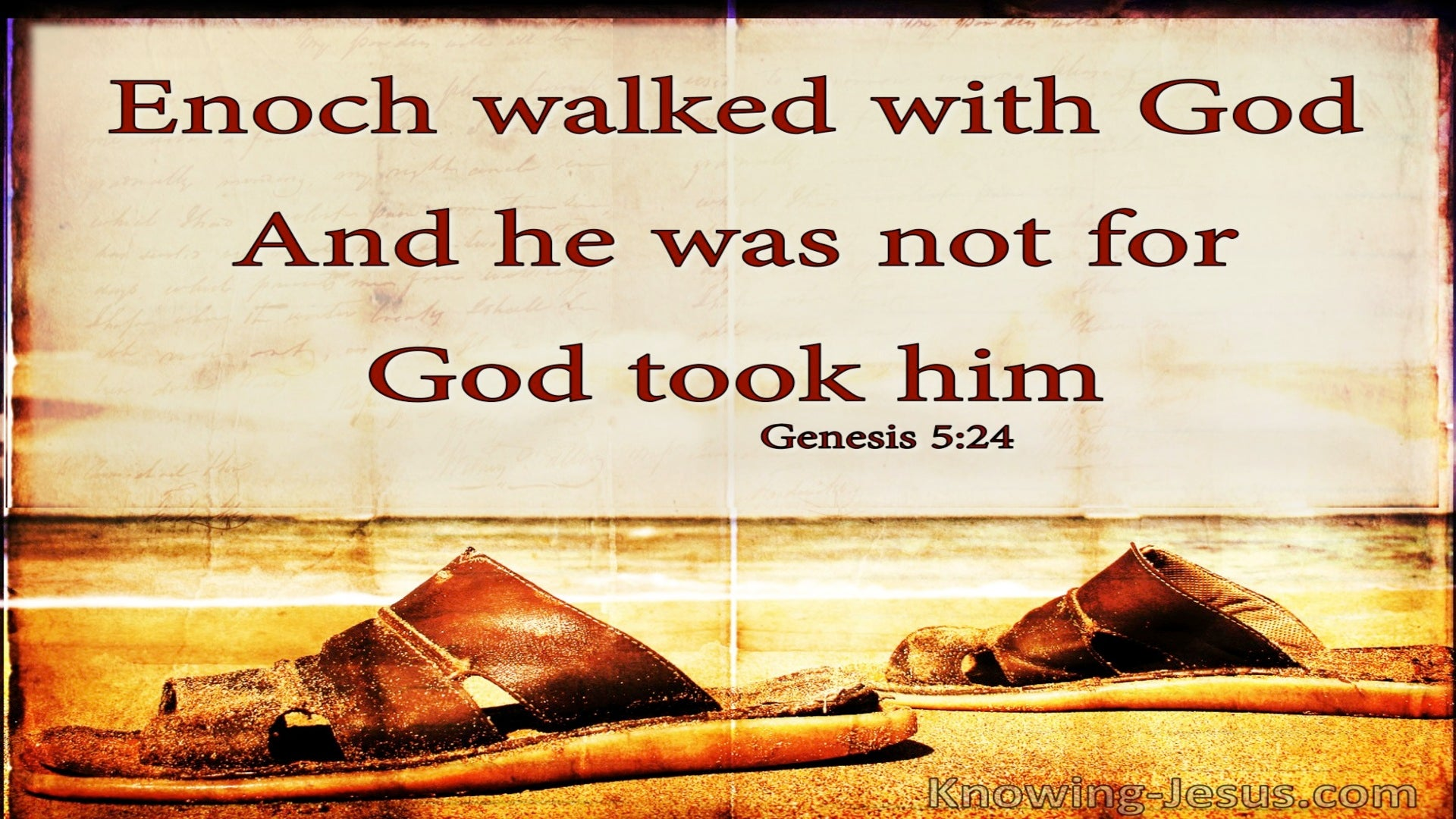 Genesis 5:24 Enoch Walked With God And Was (brown)