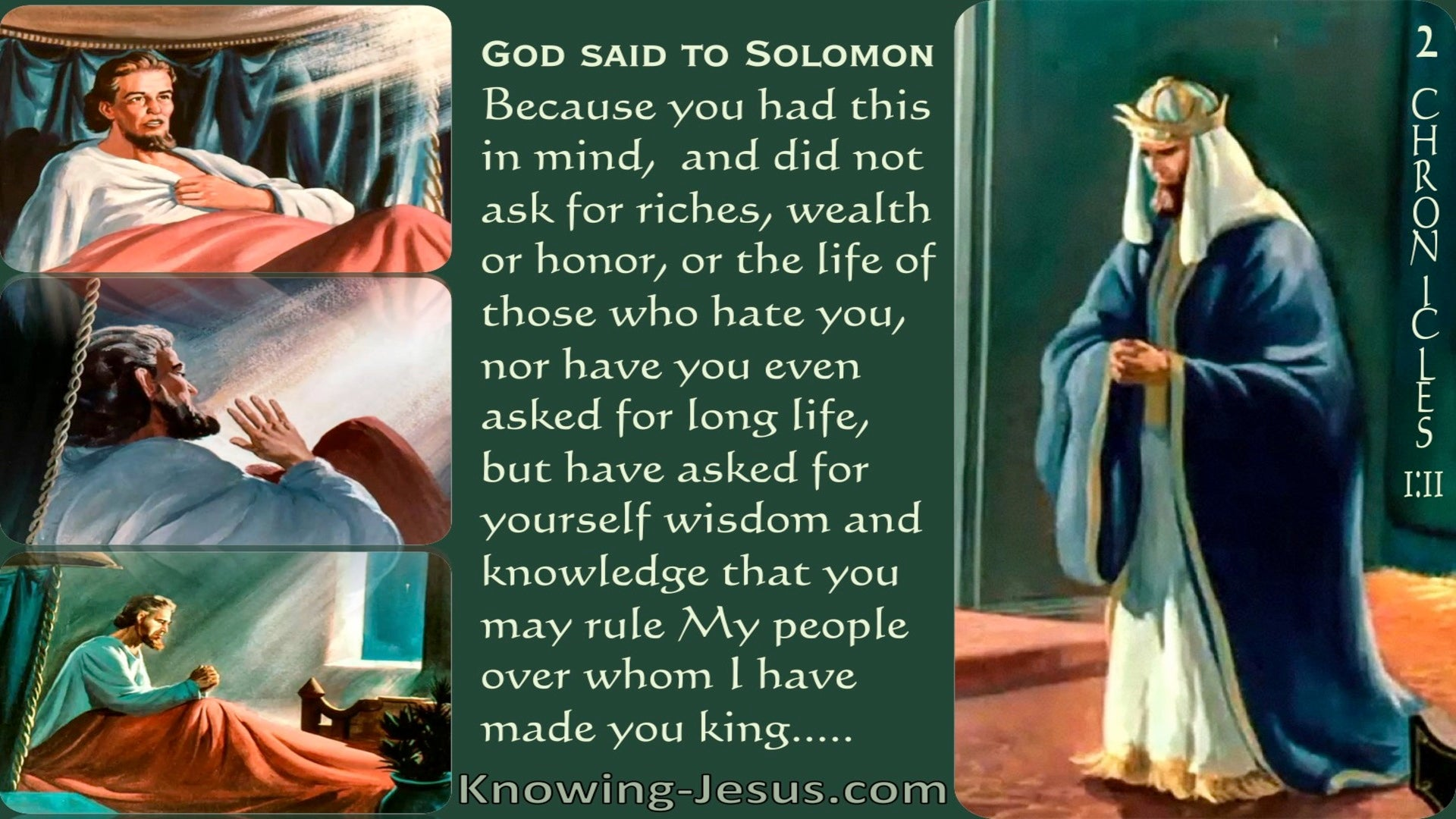 2 Chronicles 1:11 God Spoke To Solomon (green)