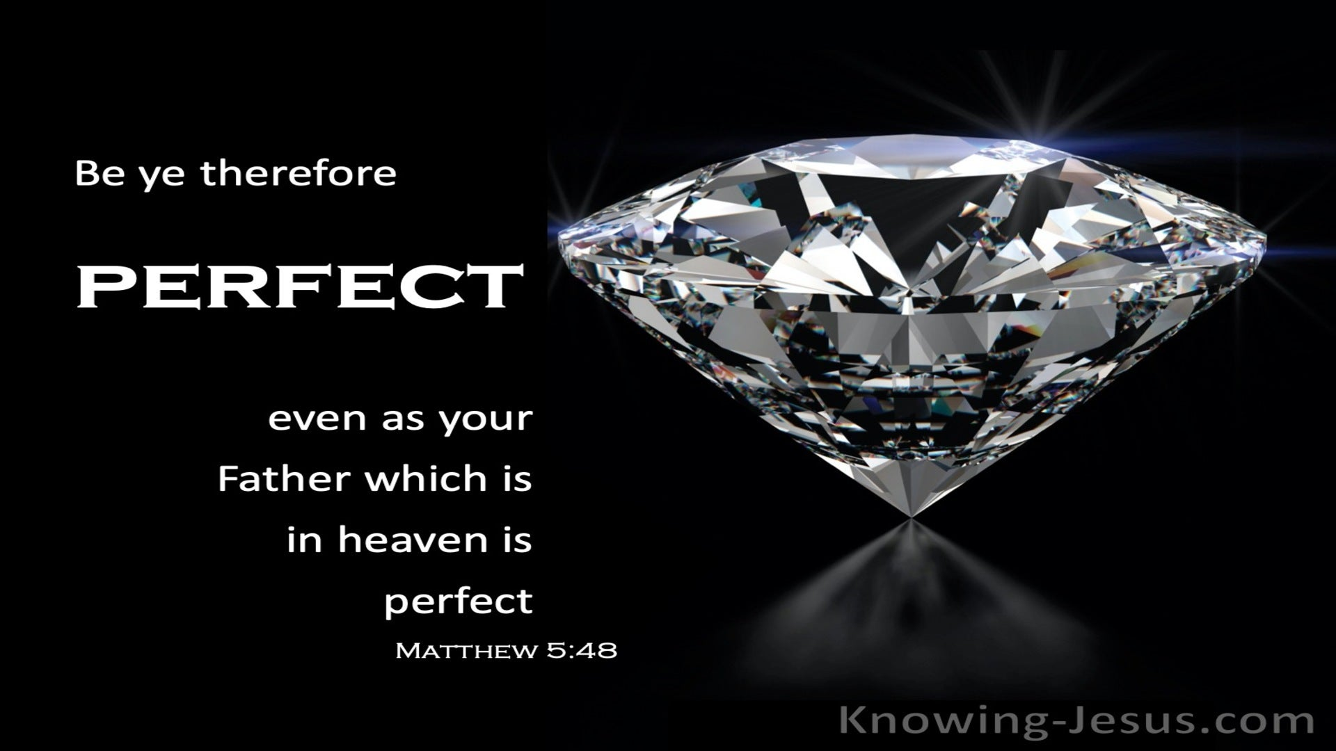 Matthew 5:48 Be Ye Perfect As Your Father In Heaven (gray)