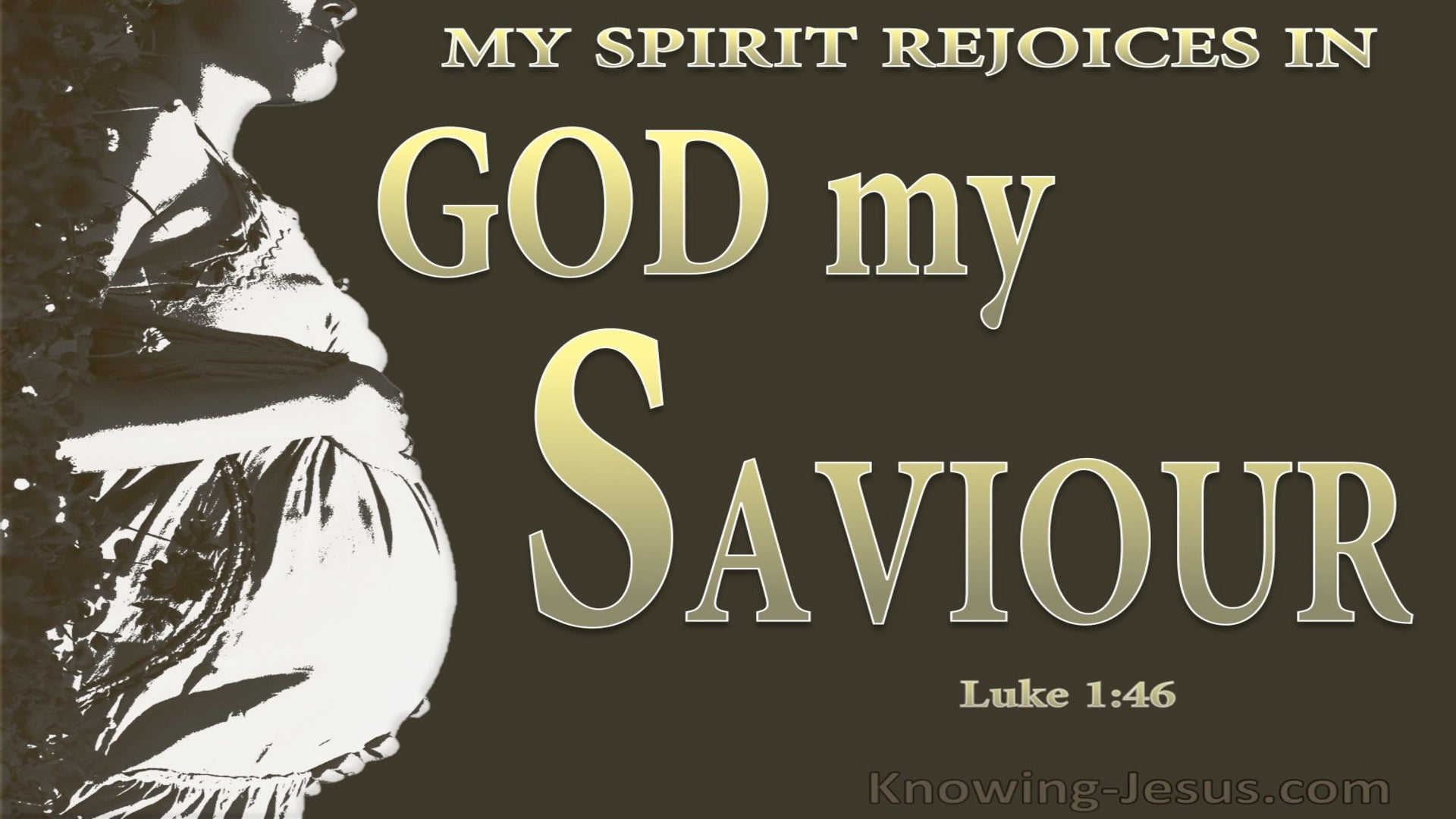 Luke 1:46 My Soul Magnifies The Lord (gold)