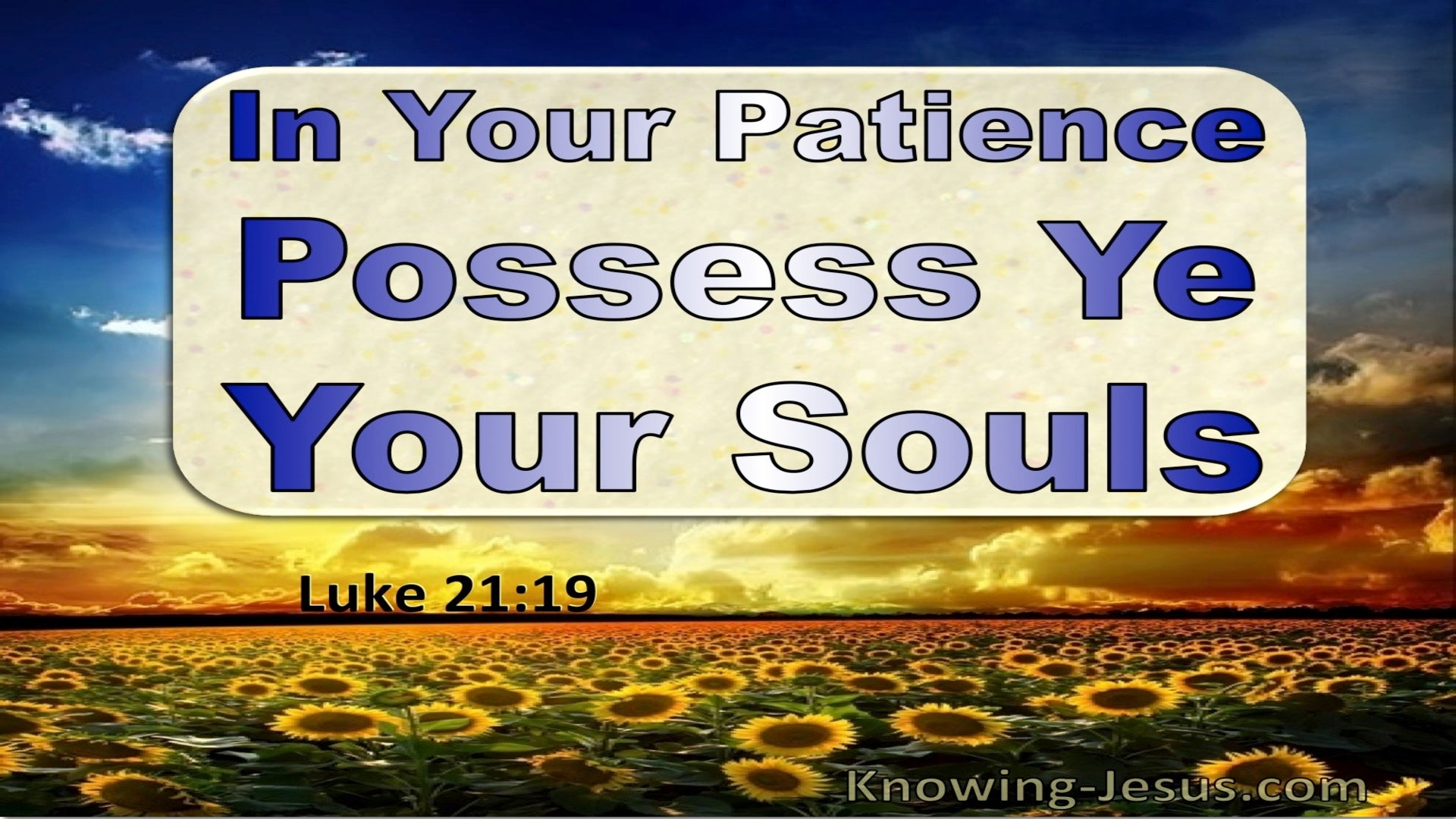 Luke 21:19 In Your Patience Posses Ye Your Souls (utmost)05:20