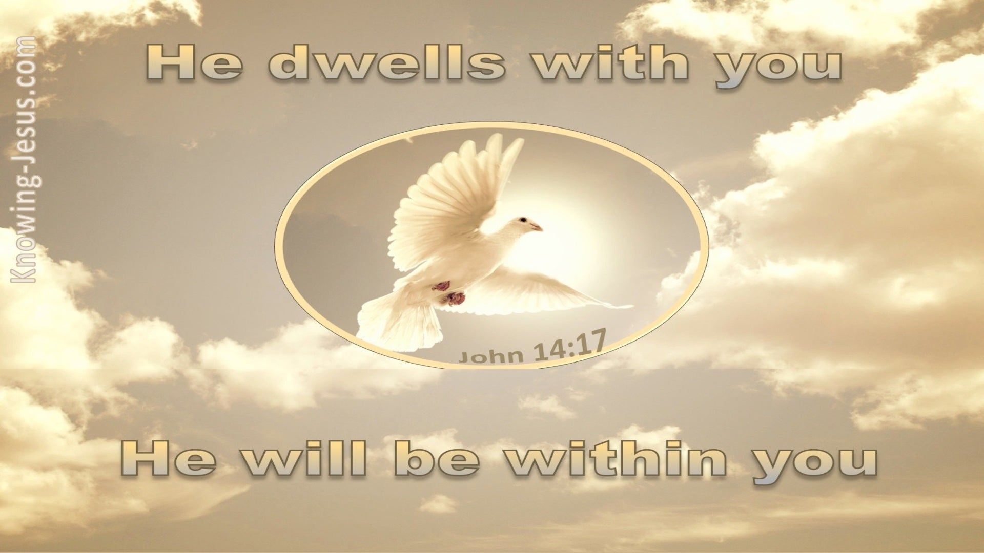 John 14:17 He Will Be In You (beige)