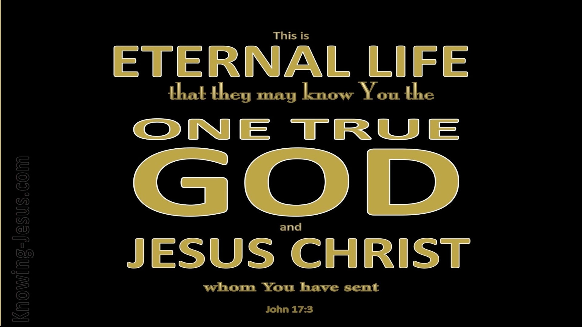 John 17:3 This Is Eternal Life (black)