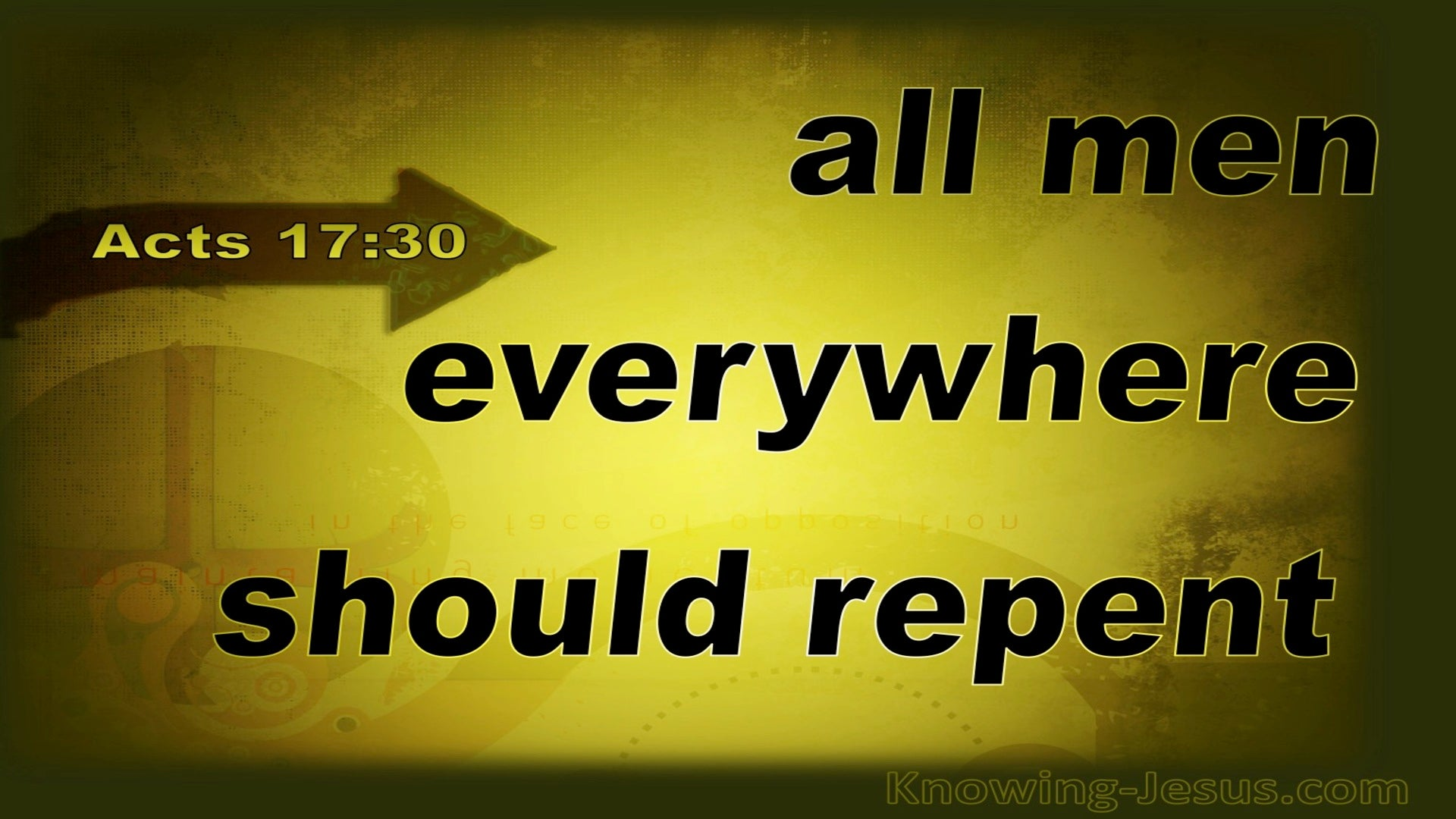 Acts 17:30 God Is Declaring All Men Should Repent (black)